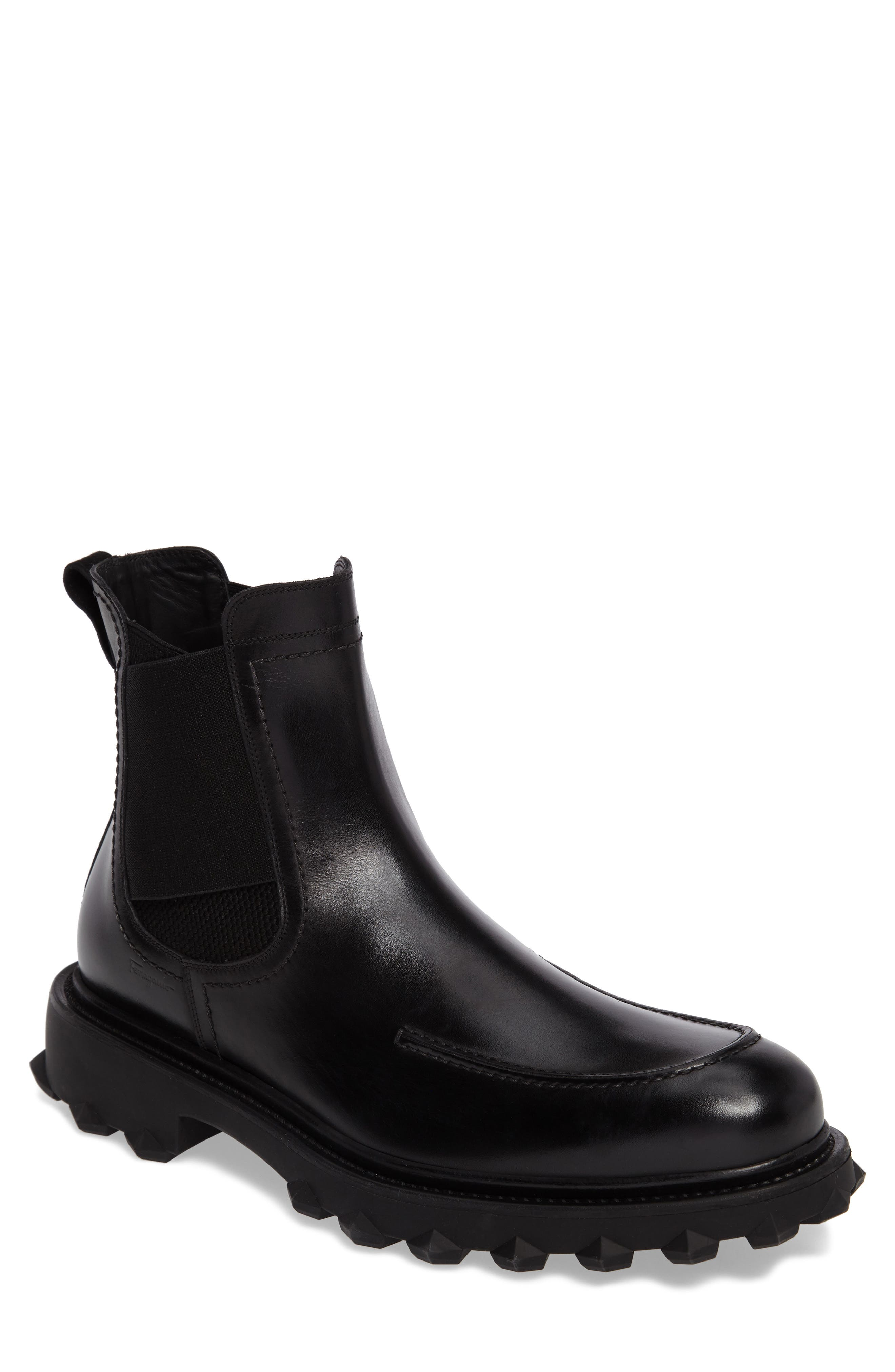 Salvatore Ferragamo Degas Diamond Chelsea Boot (Men)