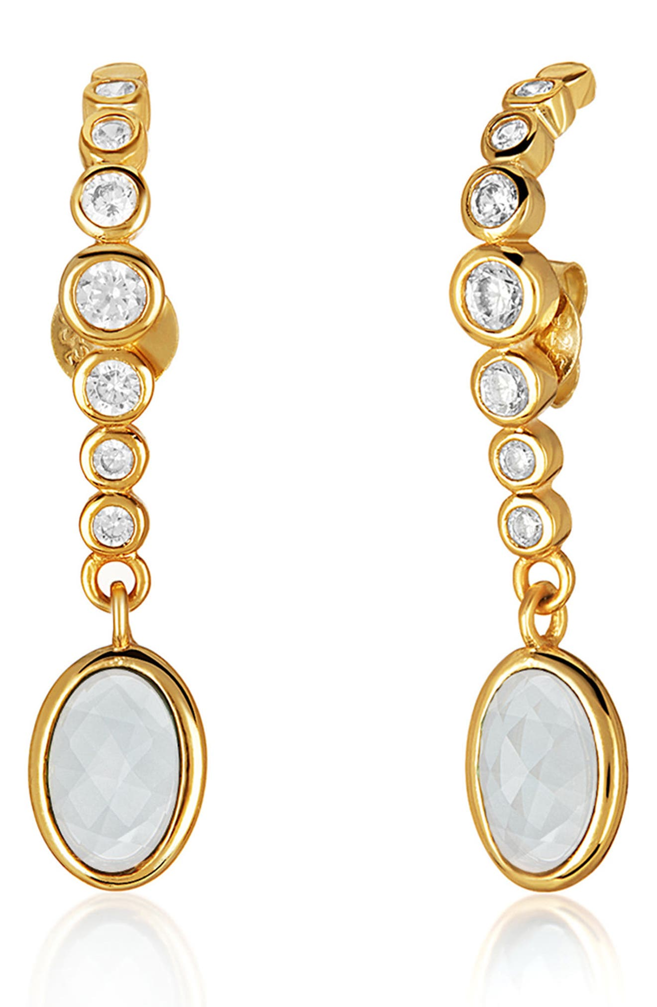 Extended Drop Earrings,                             Alternate thumbnail 3, color,                             Gold