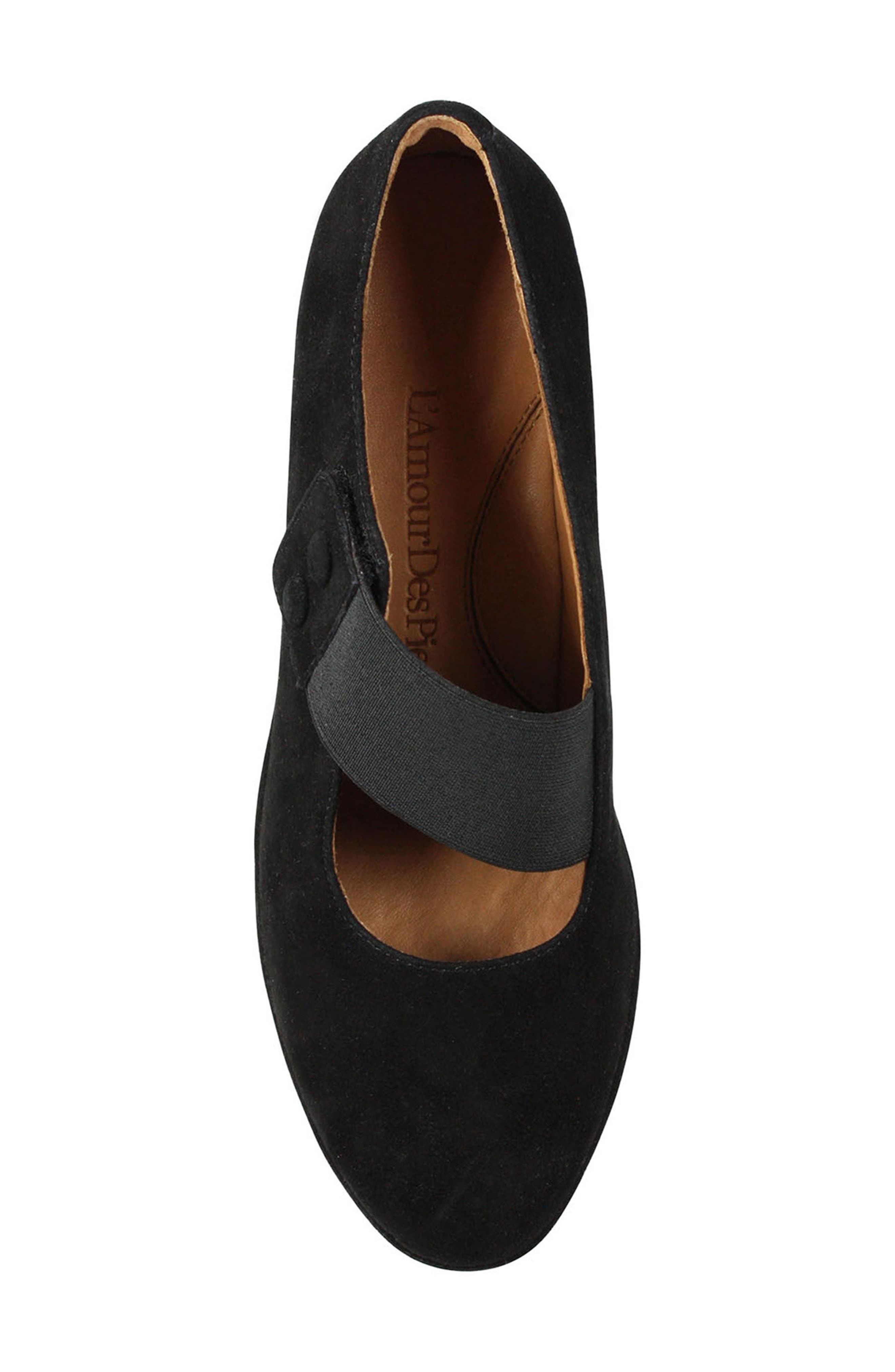 Oriana Wedge,                             Alternate thumbnail 3, color,                             Black Suede