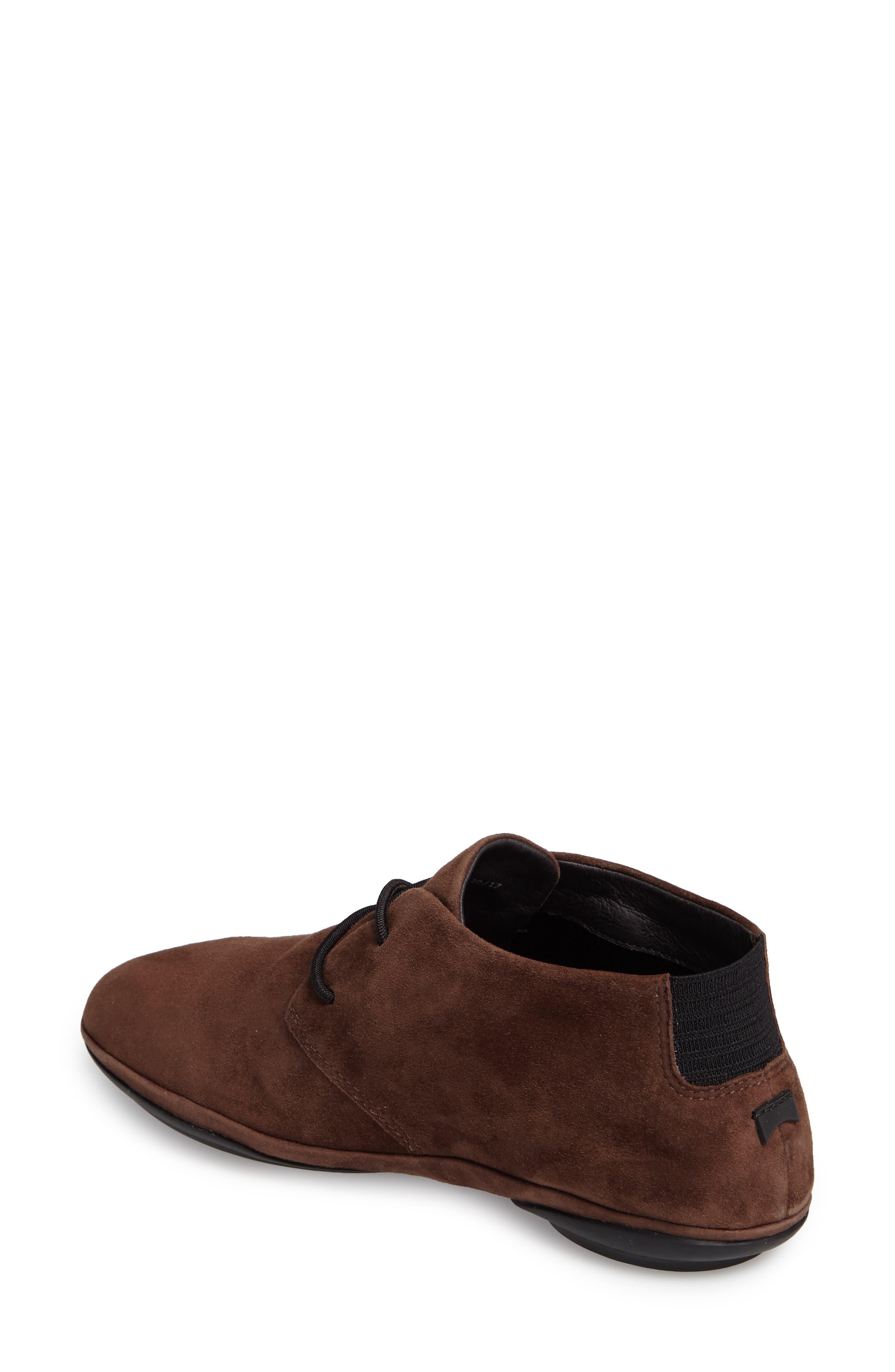 Right Nina Desert Shoe,                             Alternate thumbnail 2, color,                             Medium Brown Leather