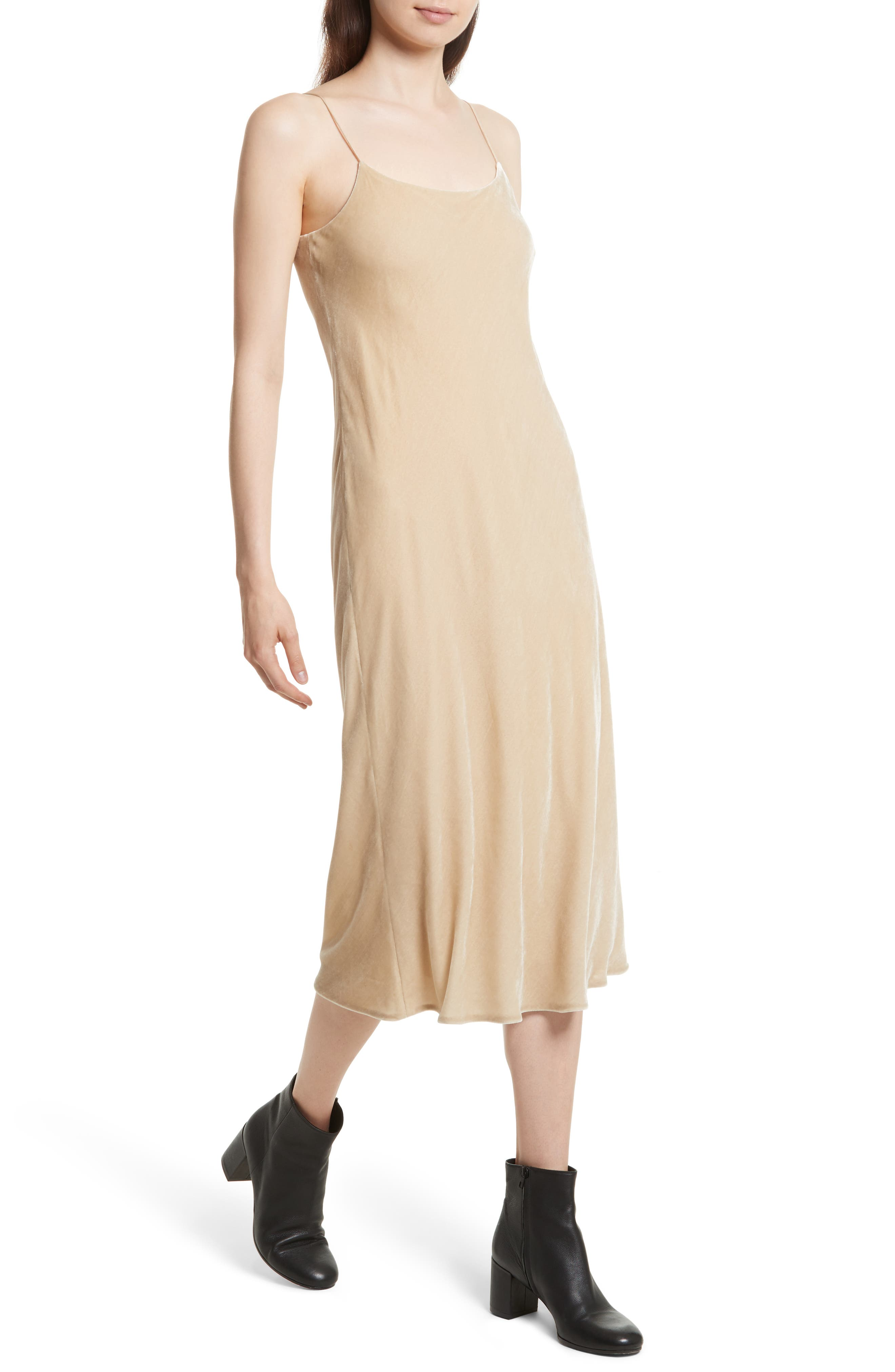 Alternate Image 4  - Vince Velvet Midi Slipdress