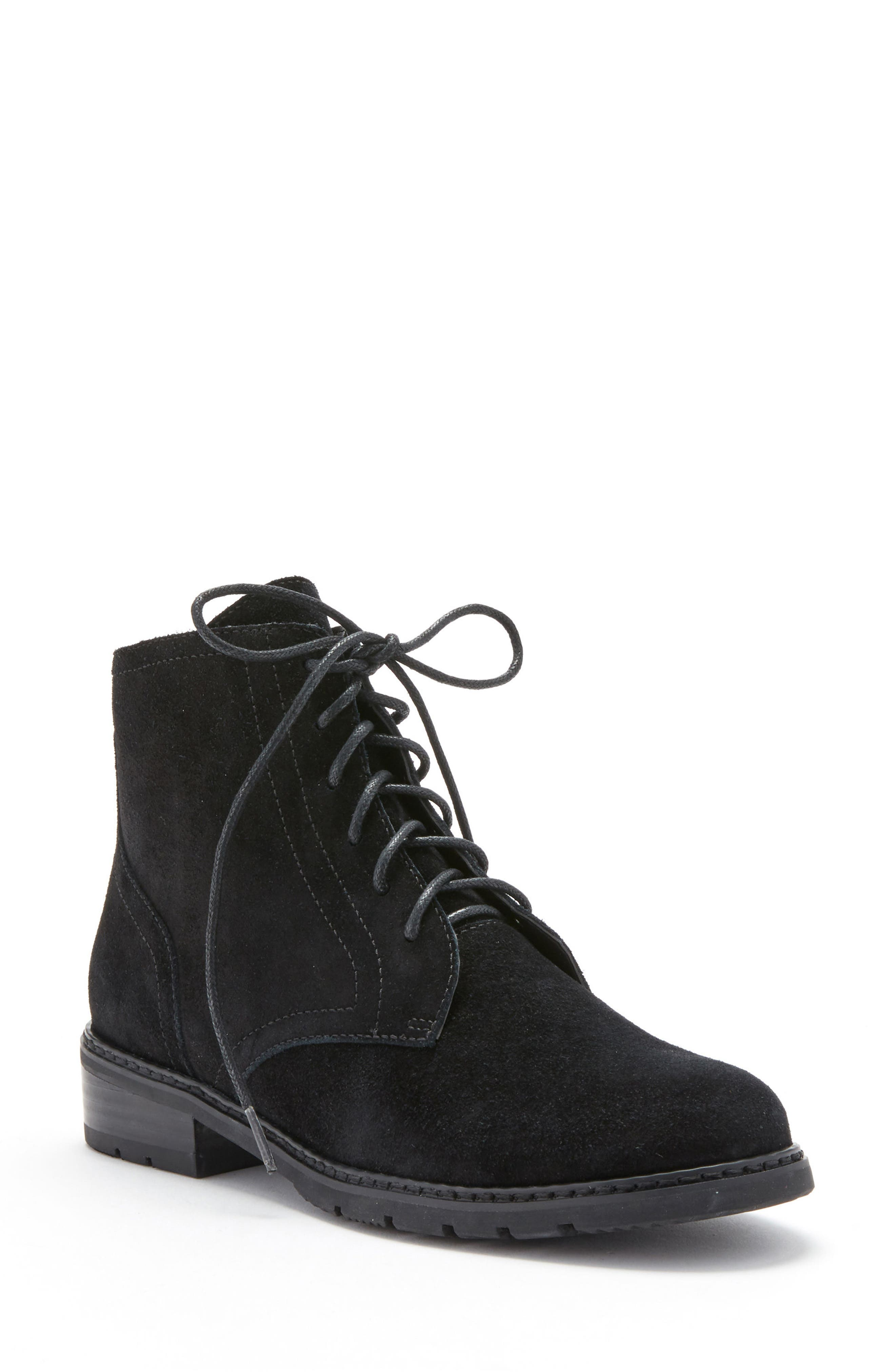 Vivi Waterproof Boot,                         Main,                         color, Black Suede