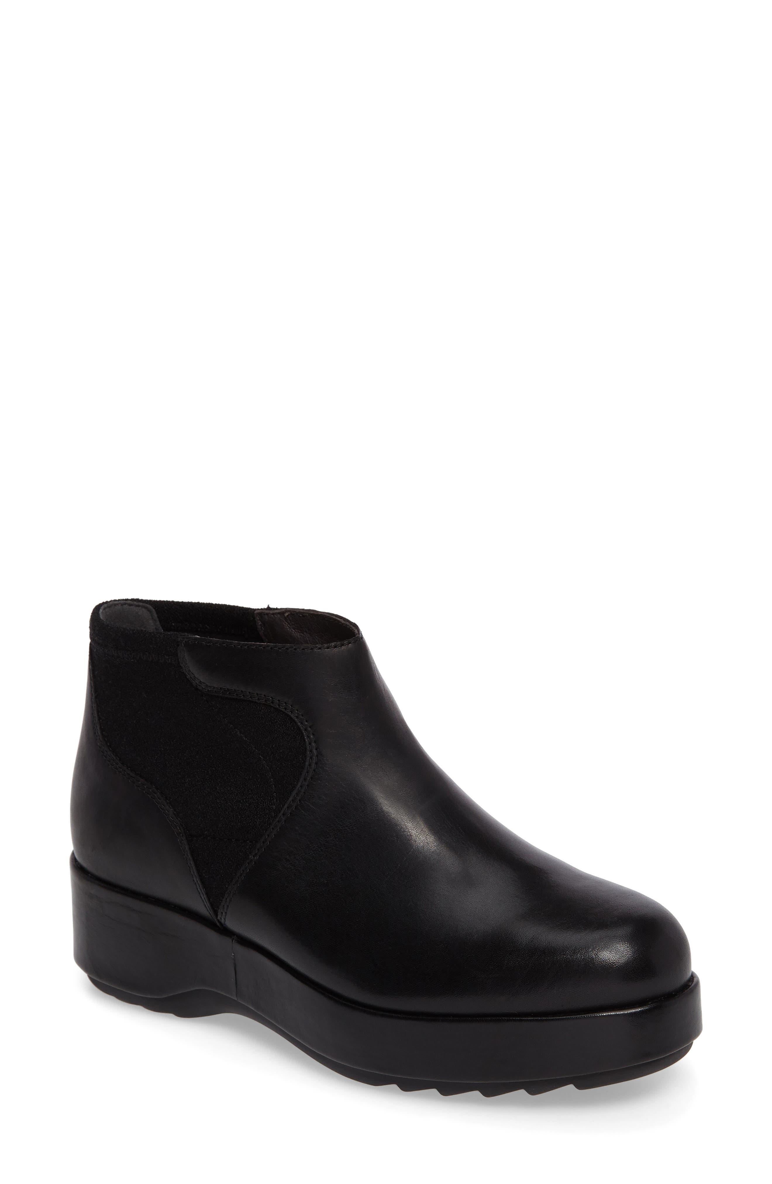 Dessa Platform Boot,                         Main,                         color, Black Leather