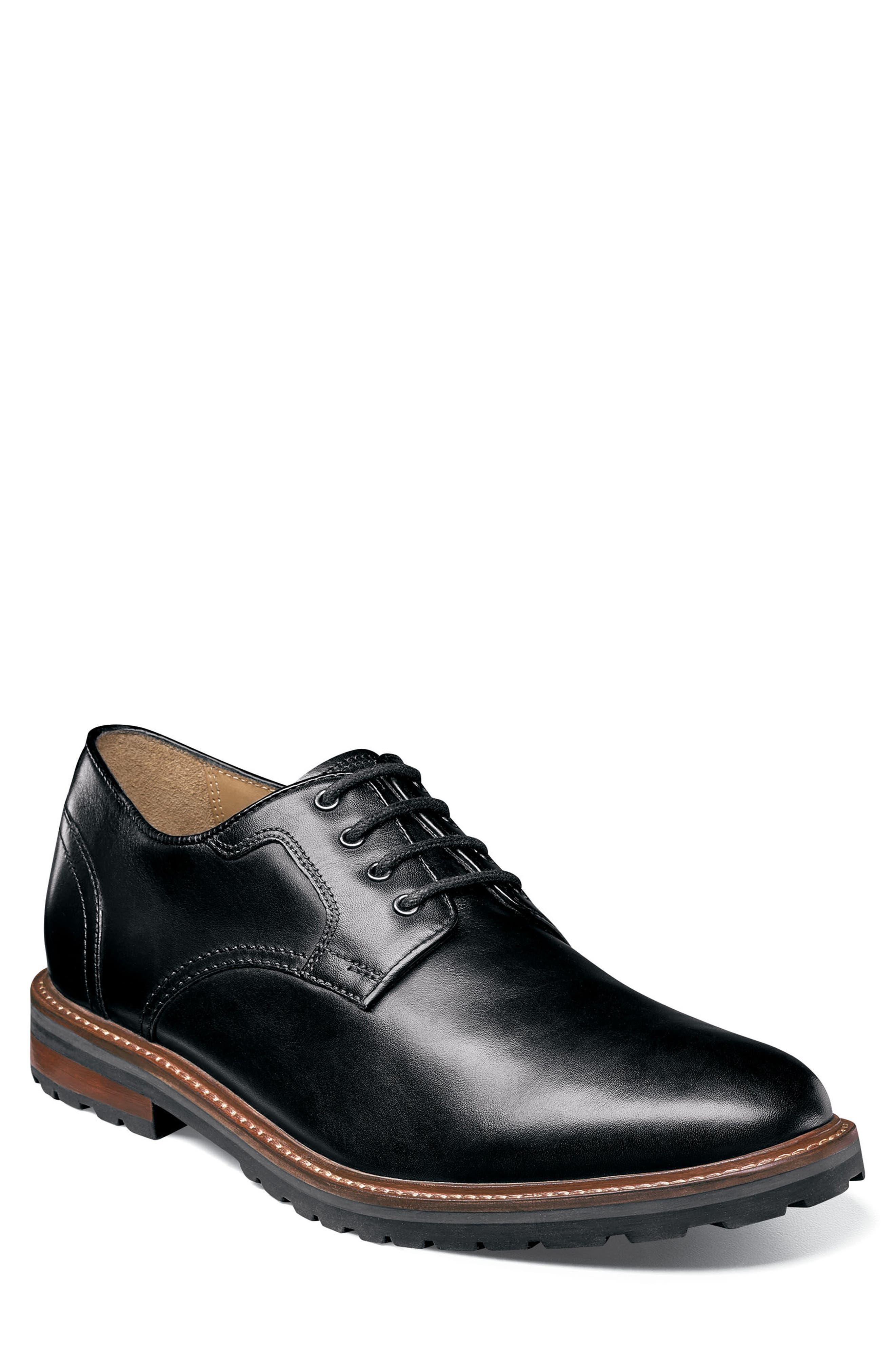 Estabrook Plain Toe Derby,                             Main thumbnail 1, color,                             Black