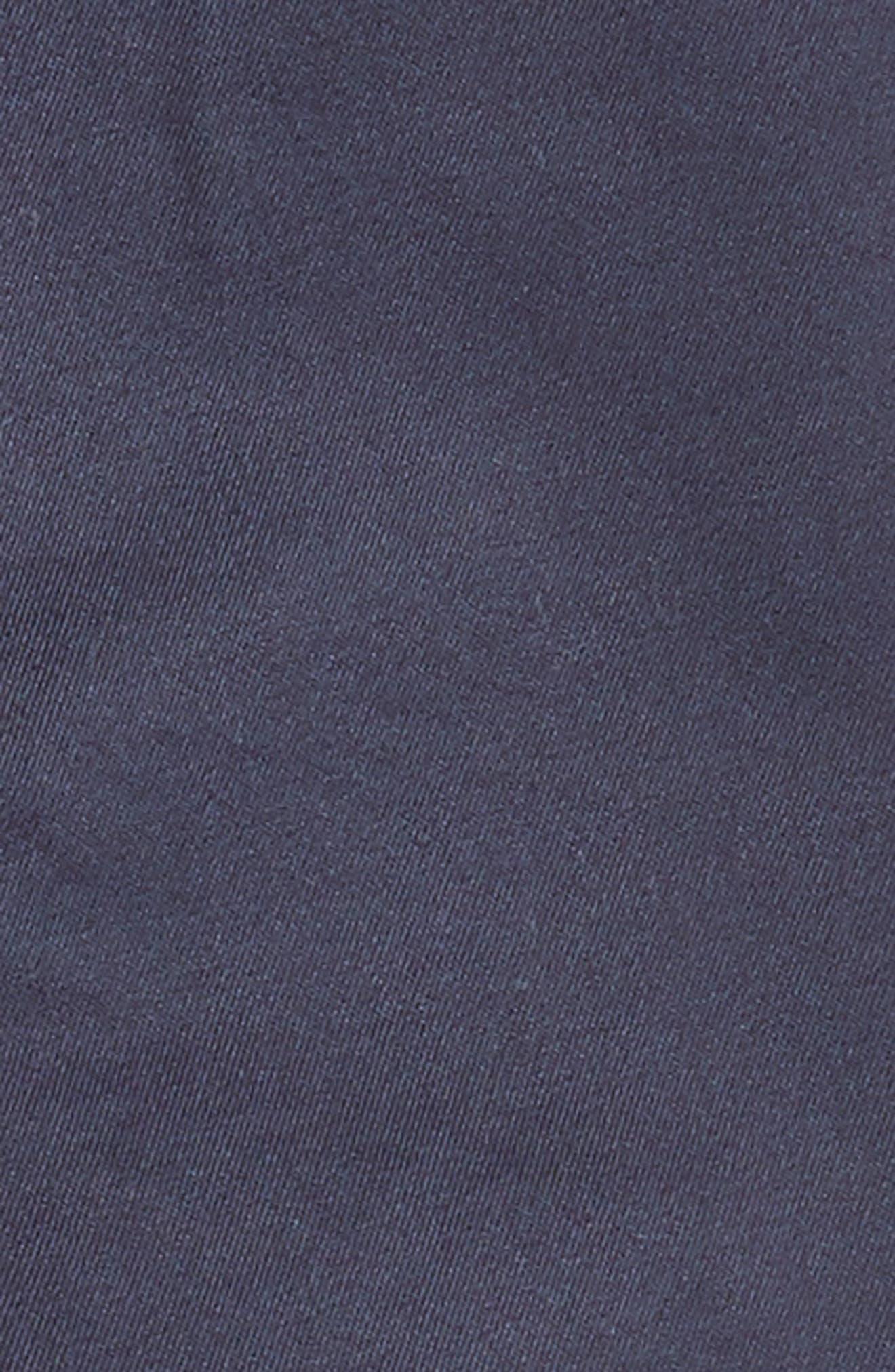 Cotton Twill Jogger Pants,                             Alternate thumbnail 3, color,                             Navy