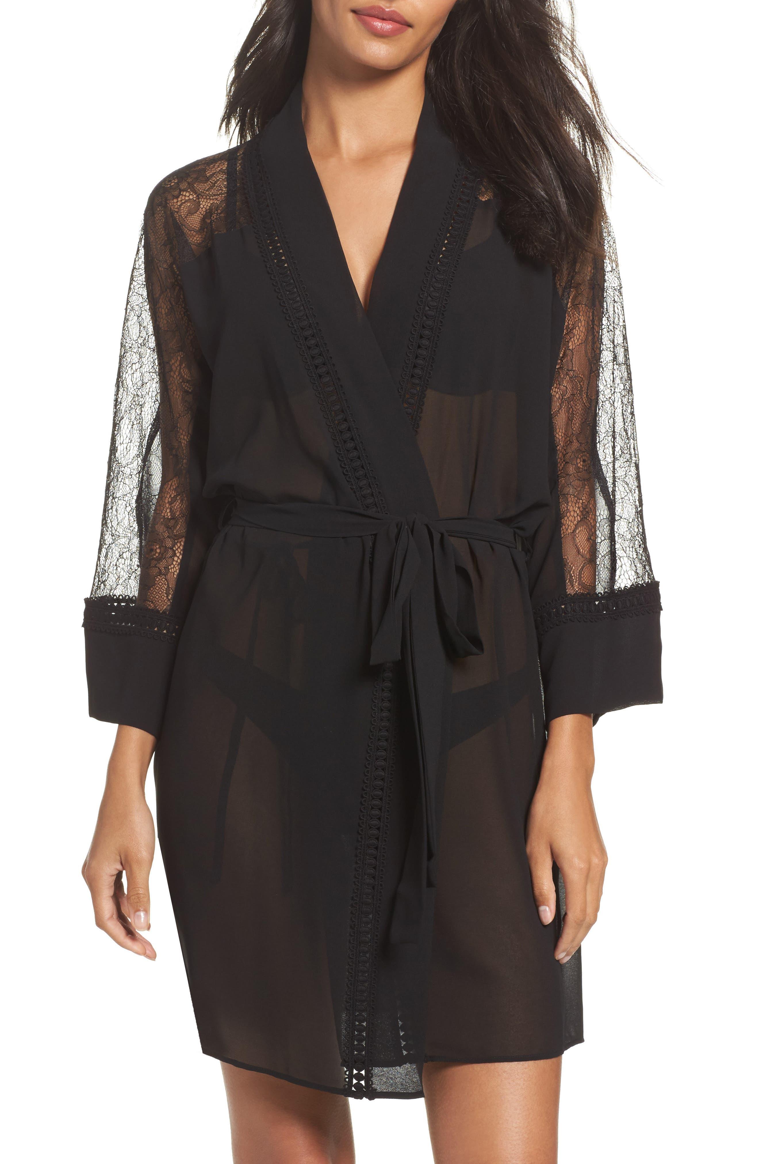 Nadya Chiffon Wrap,                         Main,                         color, Black