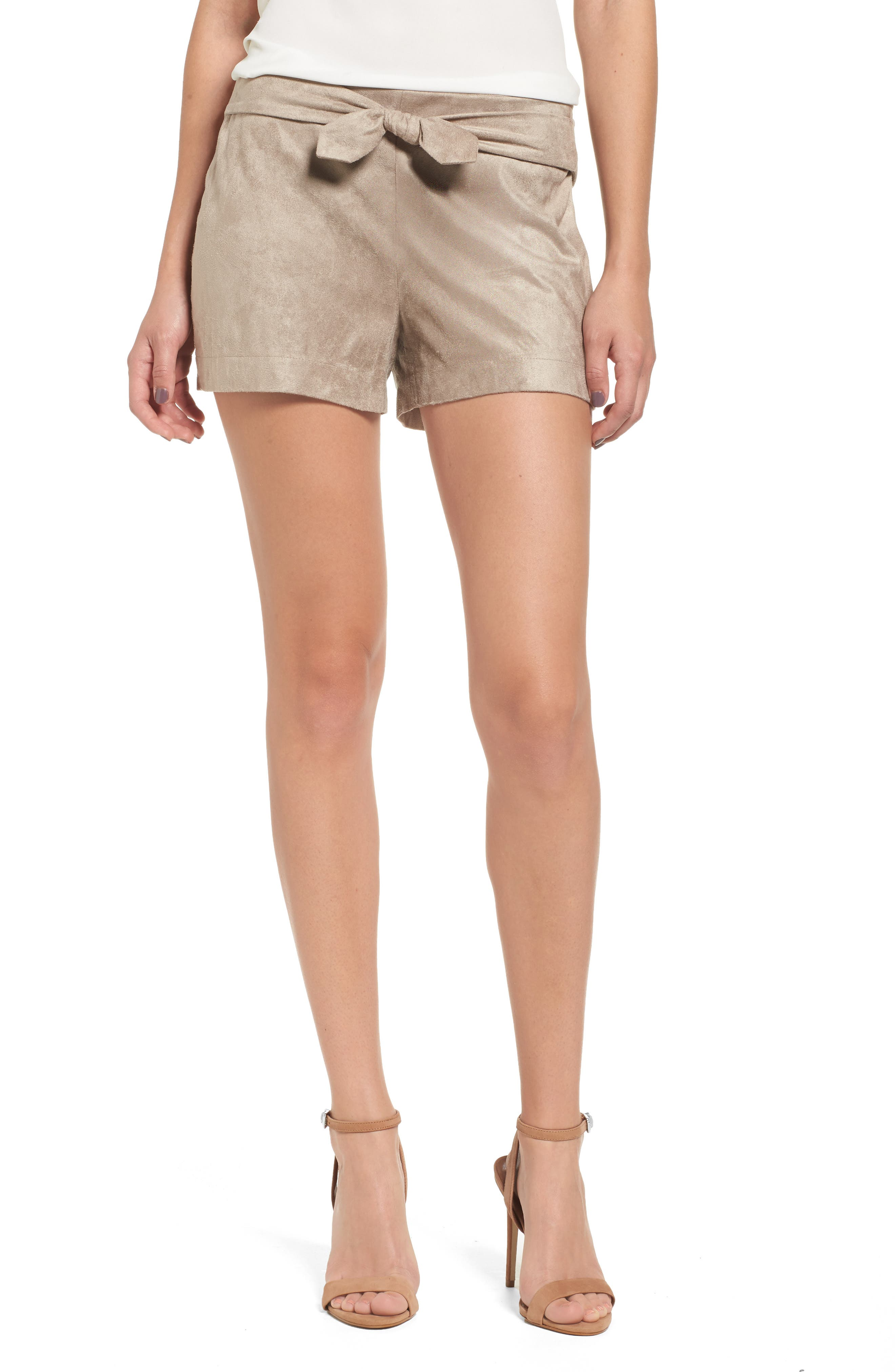 cupcakes and cashmere Gracyn Faux Suede Shorts