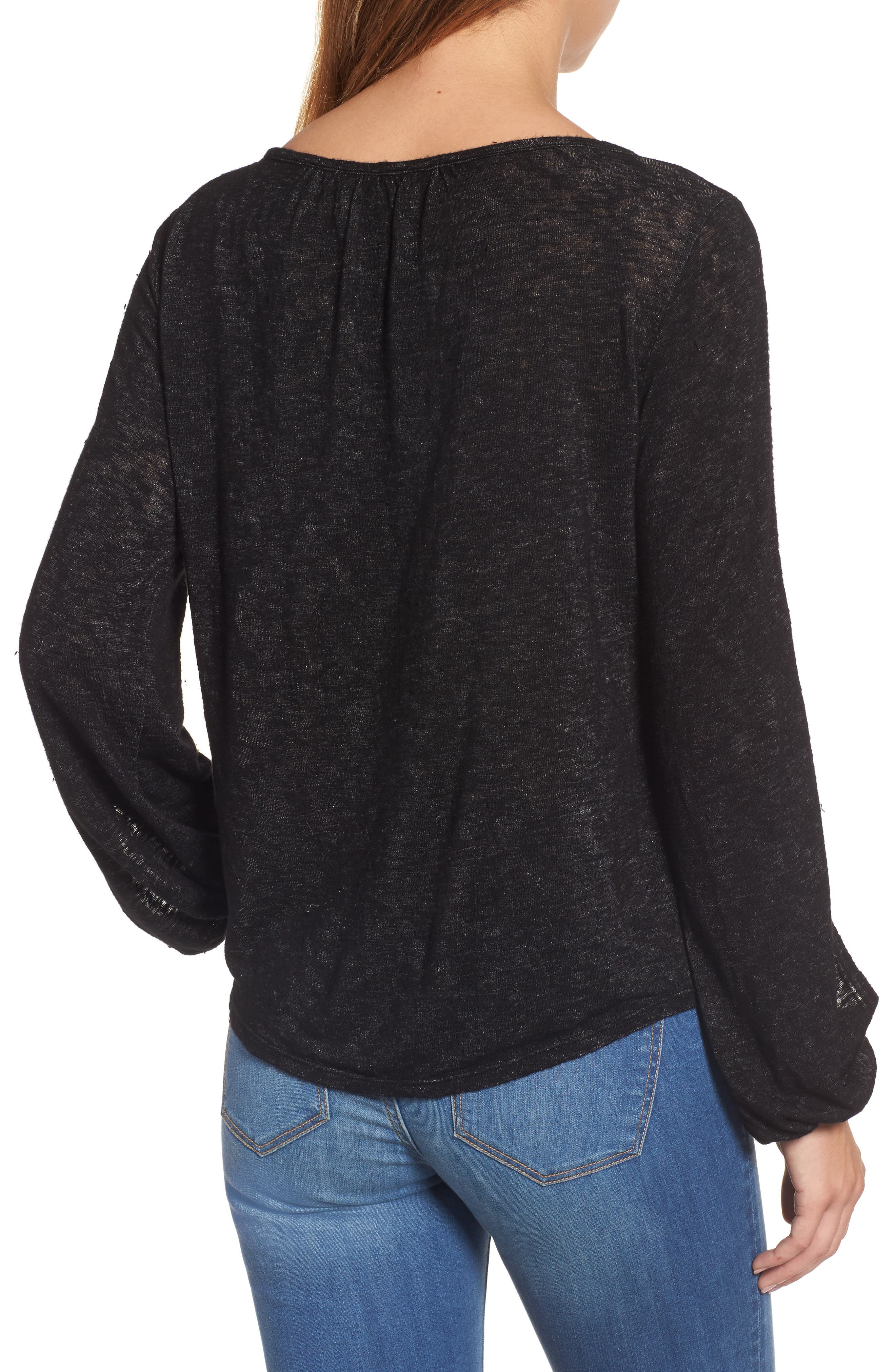 Alternate Image 2  - Velvet by Graham & Spencer Slit Sleeve Knit Top