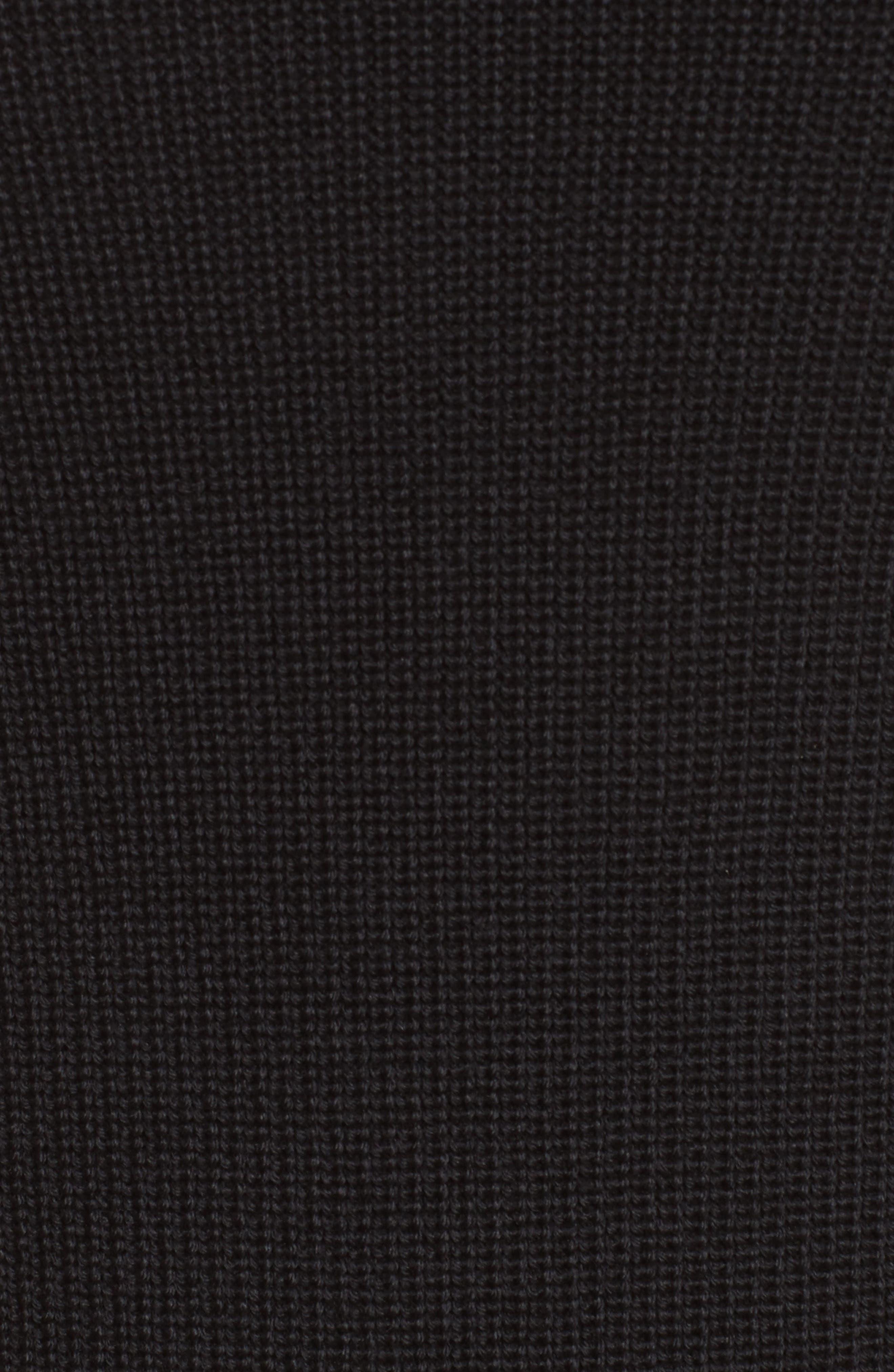 Virgin Wool Front Slit Tunic,                             Alternate thumbnail 6, color,                             Black