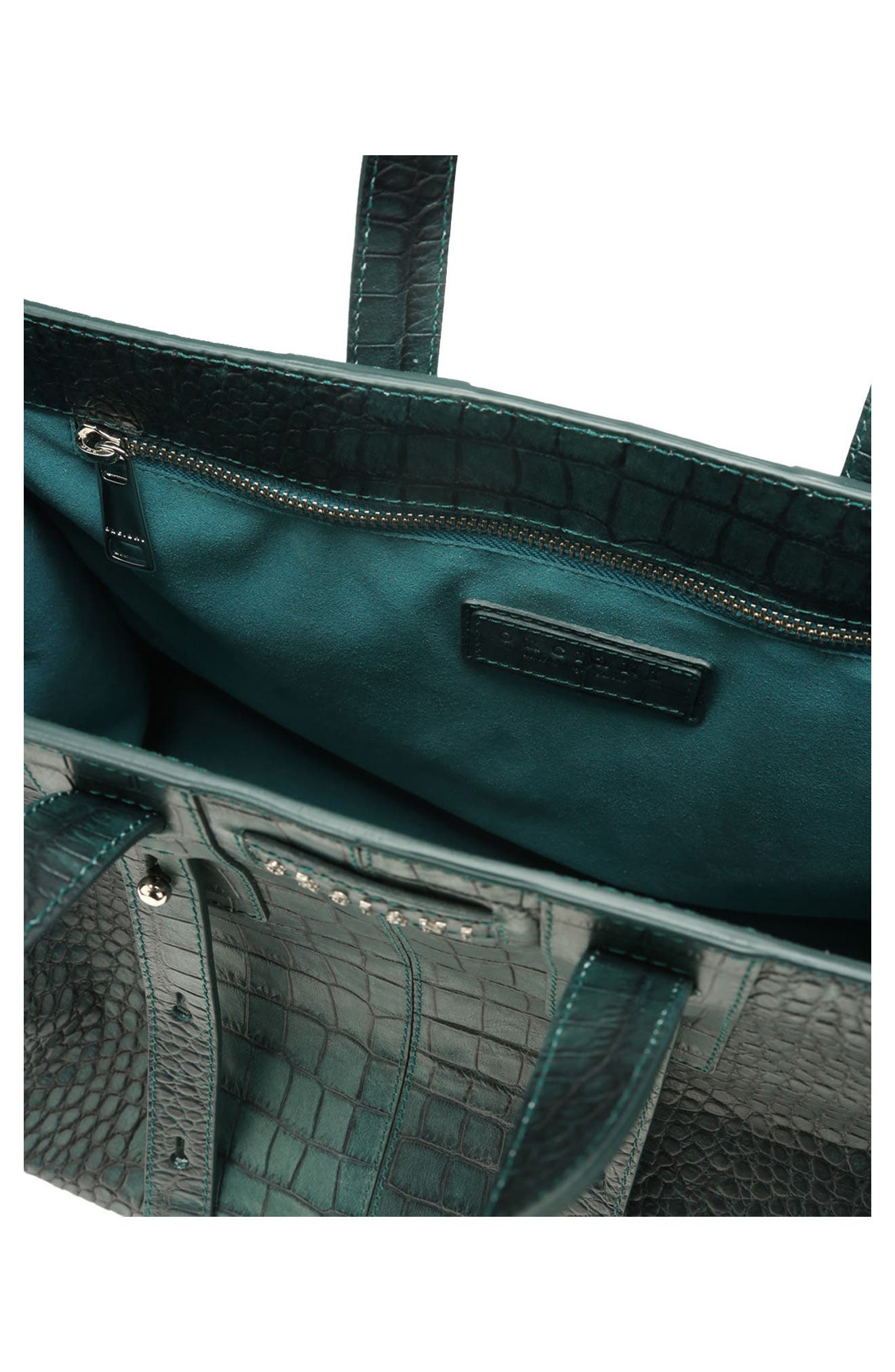 Alternate Image 3  - Orciani Petra Croc-Embossed Calfskin Leather Tote