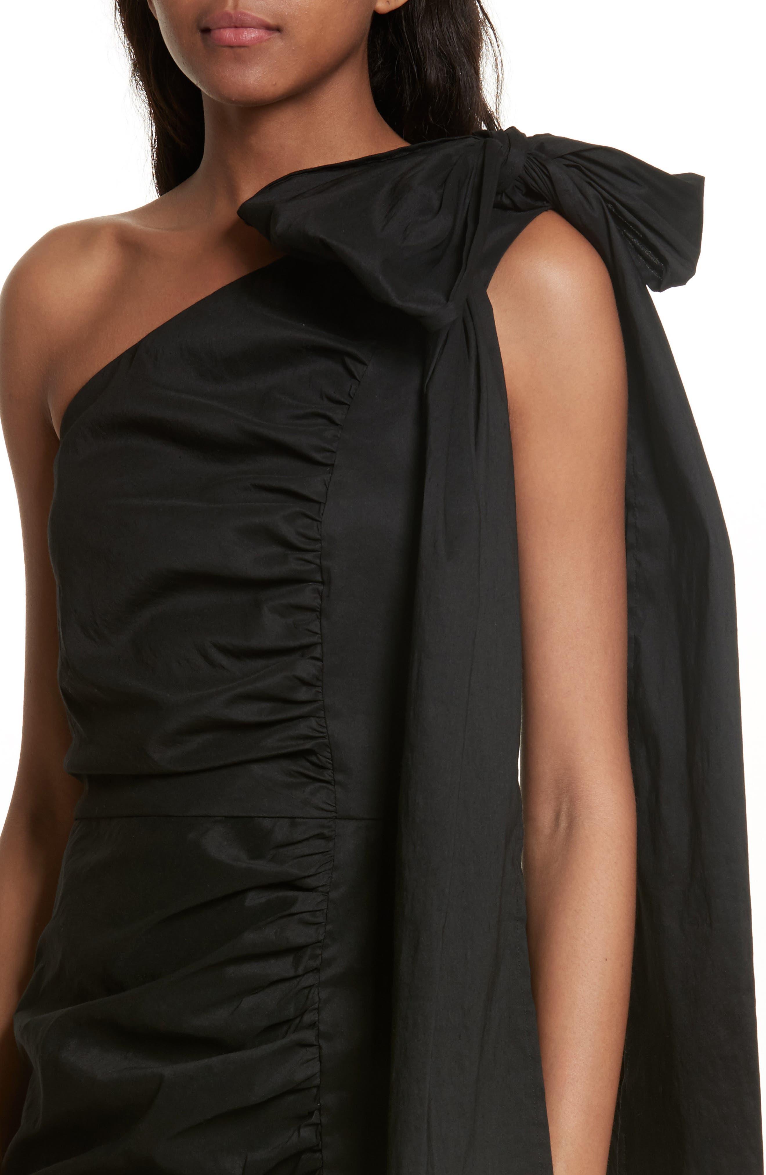 Alternate Image 4  - Sea Bow One-Shoulder Dress
