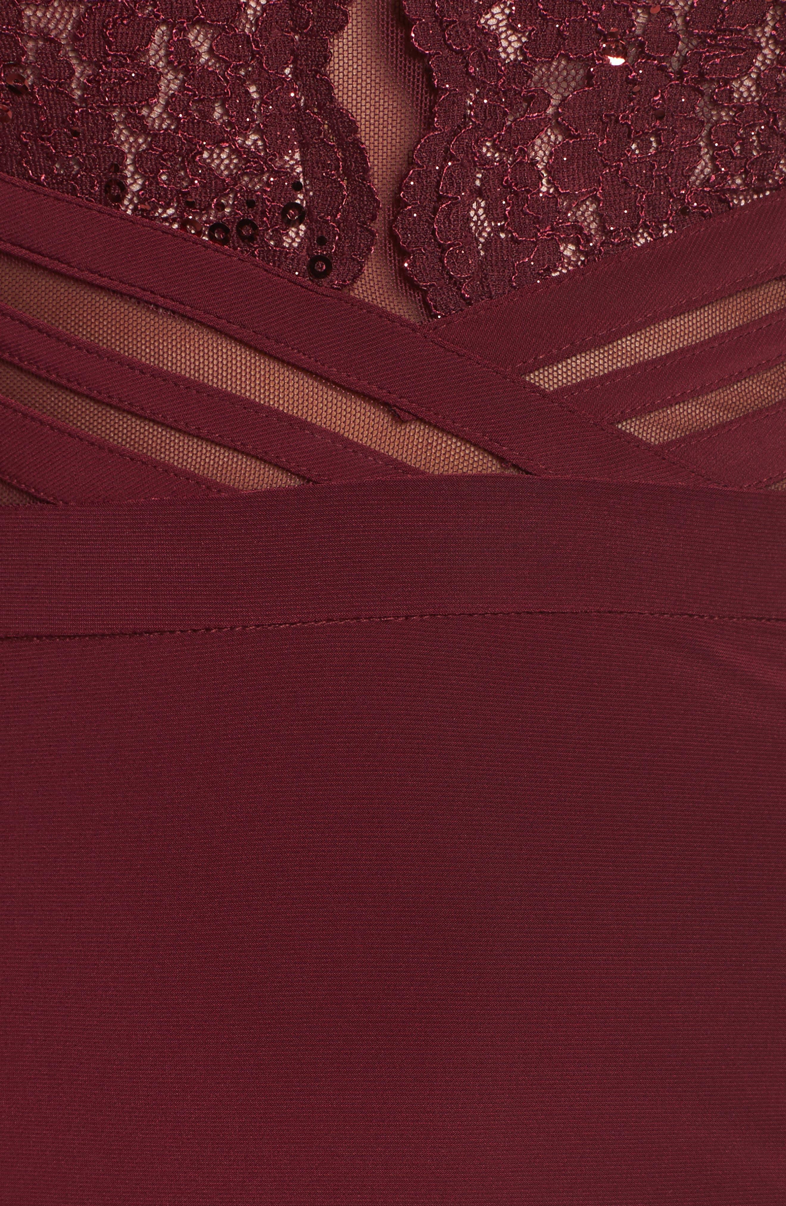 Alternate Image 5  - Morgan & Co. Scallop Lace Bodice Body-Con Dress
