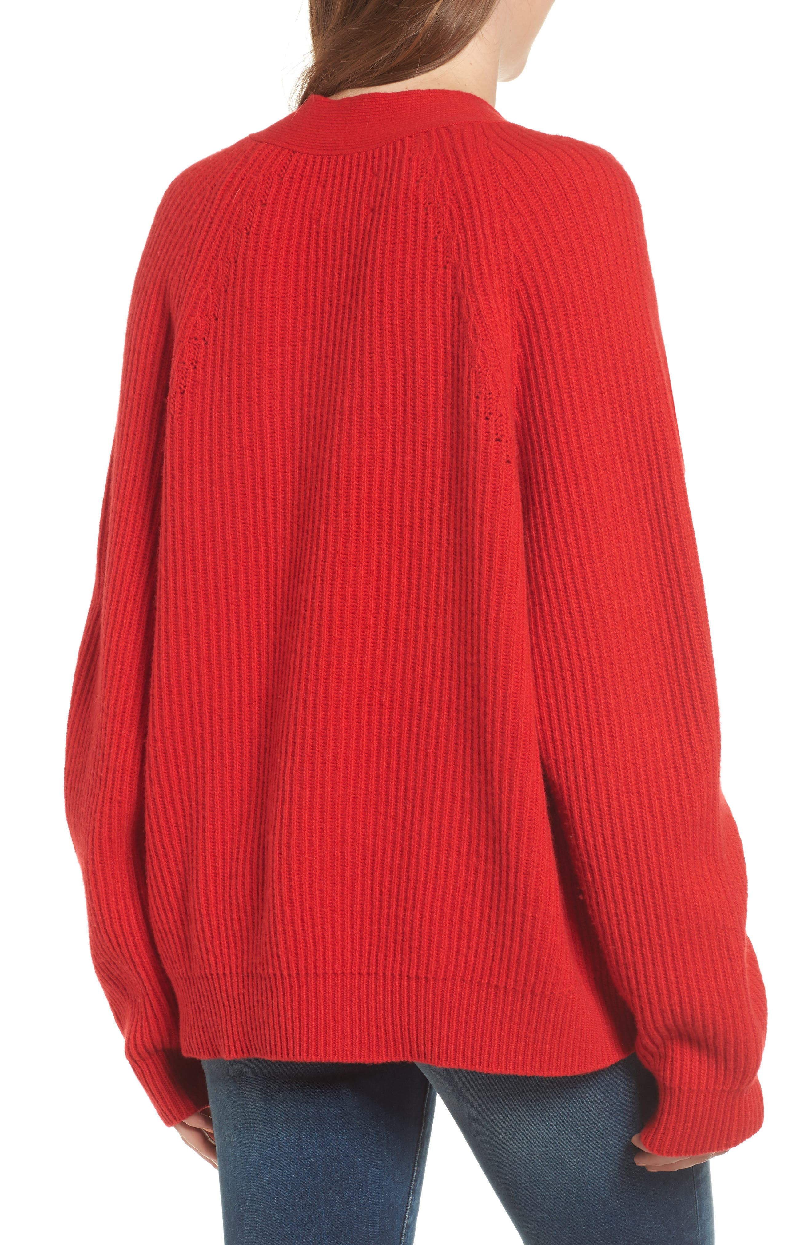Kassy Wool Blend Sweater,                             Alternate thumbnail 2, color,                             Rouge