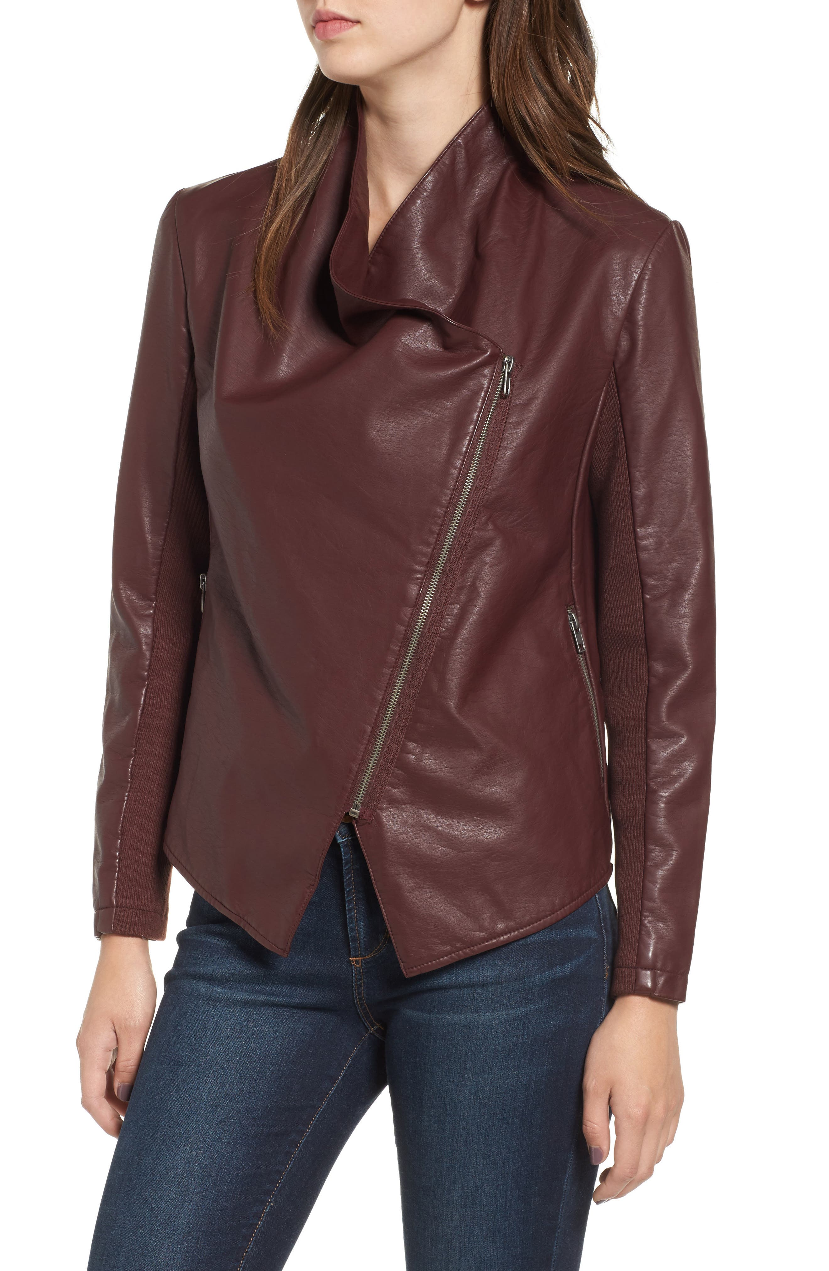 Alternate Image 4  - BB Dakota Gabrielle Faux Leather Asymmetrical Jacket