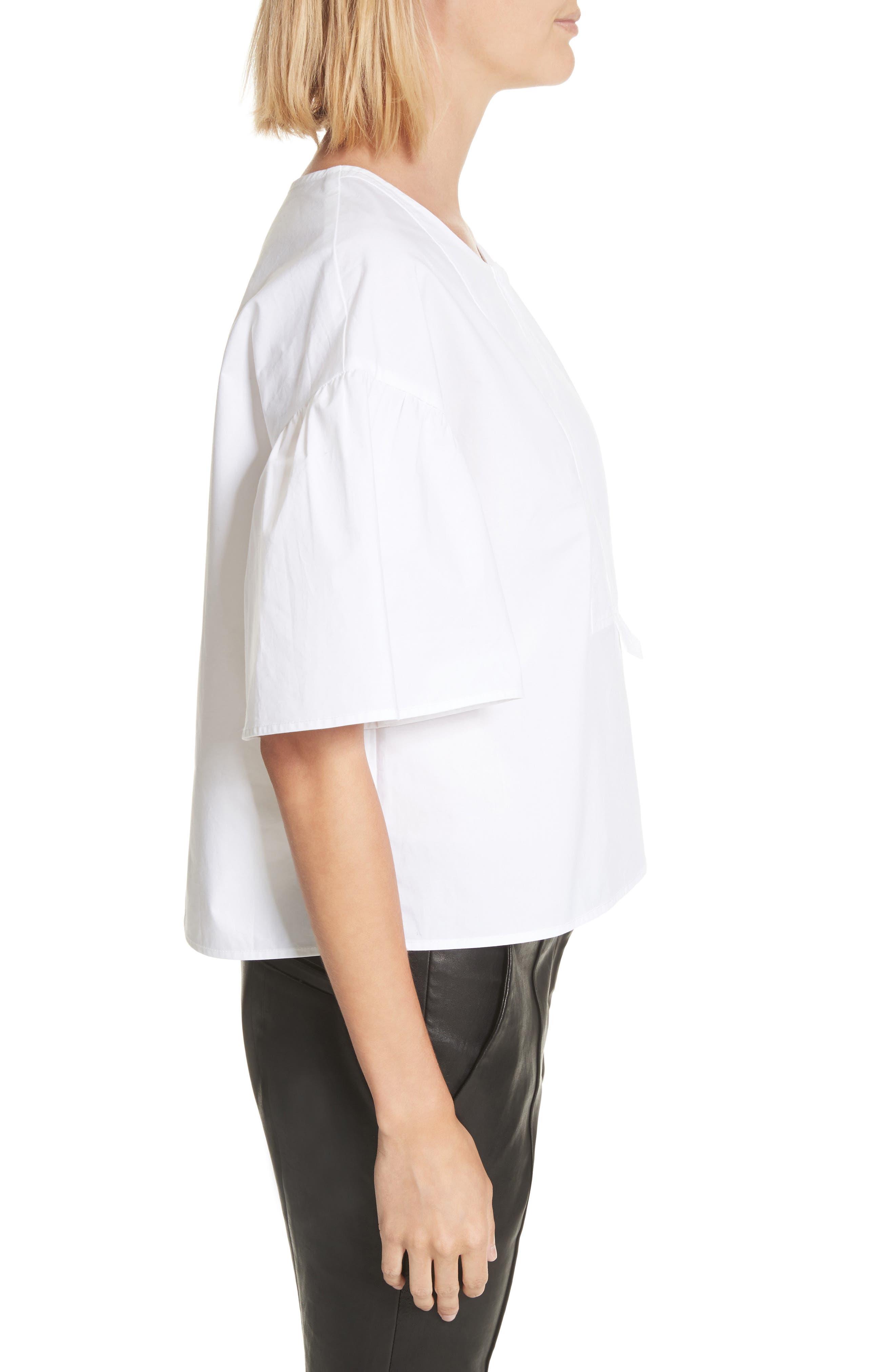 Kyrie Cotton Top,                             Alternate thumbnail 4, color,                             White