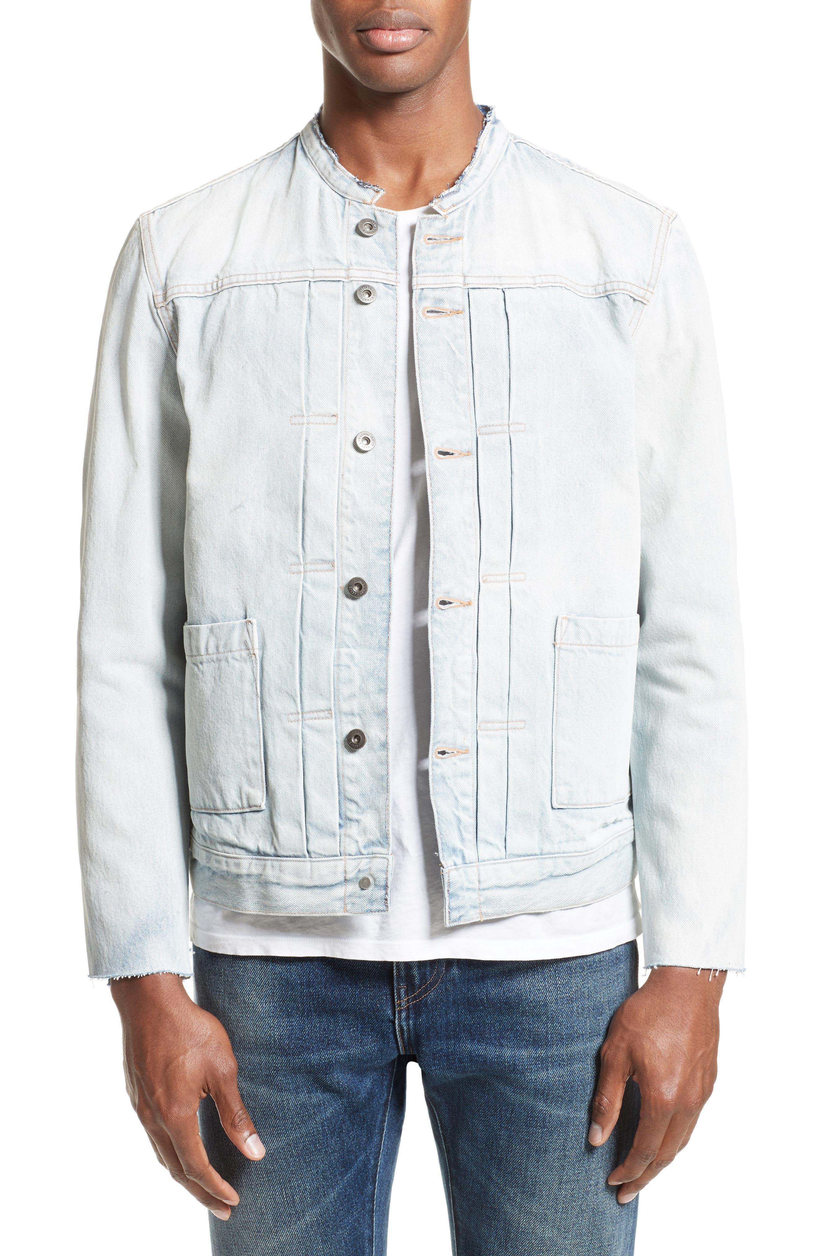 Alternate Image 1 Selected - Levi's® Made & Crafted™ Type II Trucker Raw Edge Denim Jacket