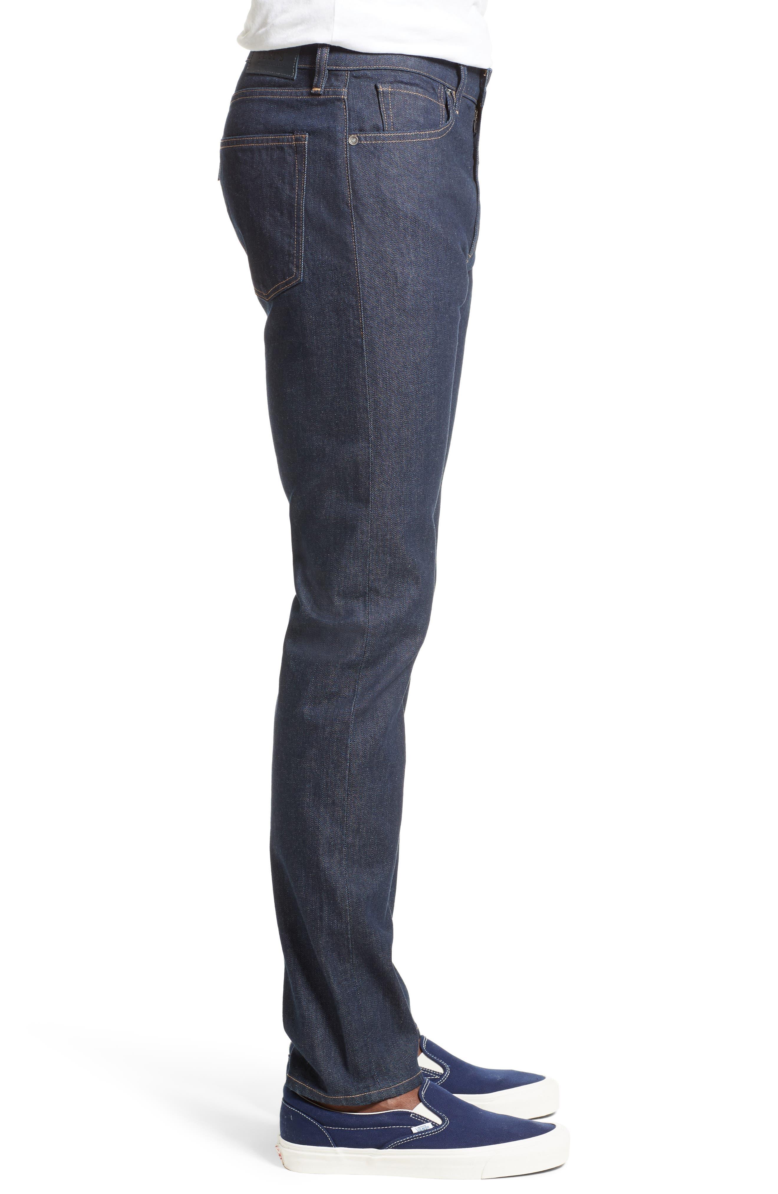 Tack Slim Fit Jeans,                             Alternate thumbnail 3, color,                             Dark Blue