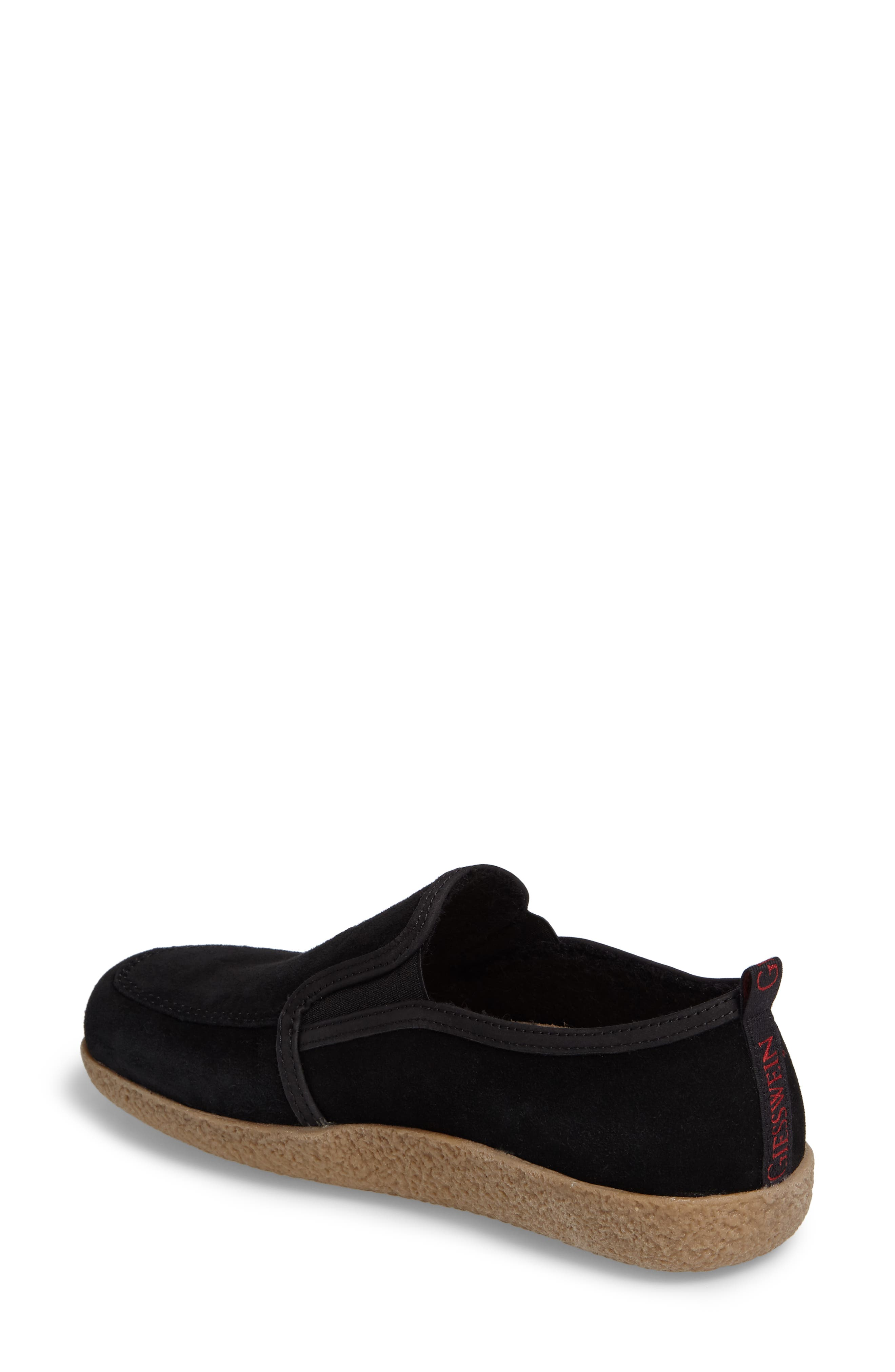 Alpen Loafer,                             Alternate thumbnail 2, color,                             Black Wool