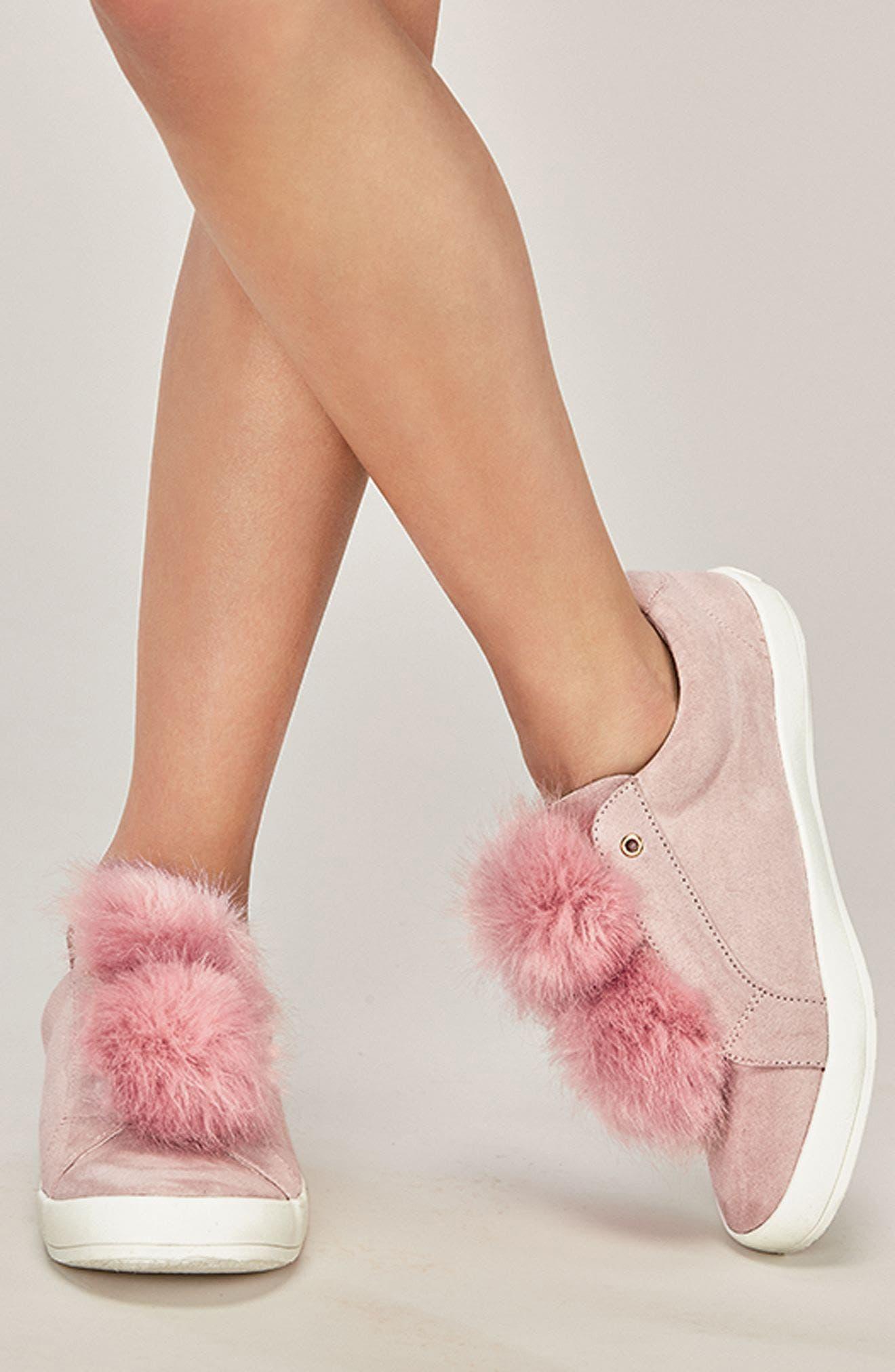 Alternate Image 7  - Sam Edelman Cynthia Leya Faux Fur Pompom Slip-On Sneaker (Toddler, Little Kid & Big Kid)