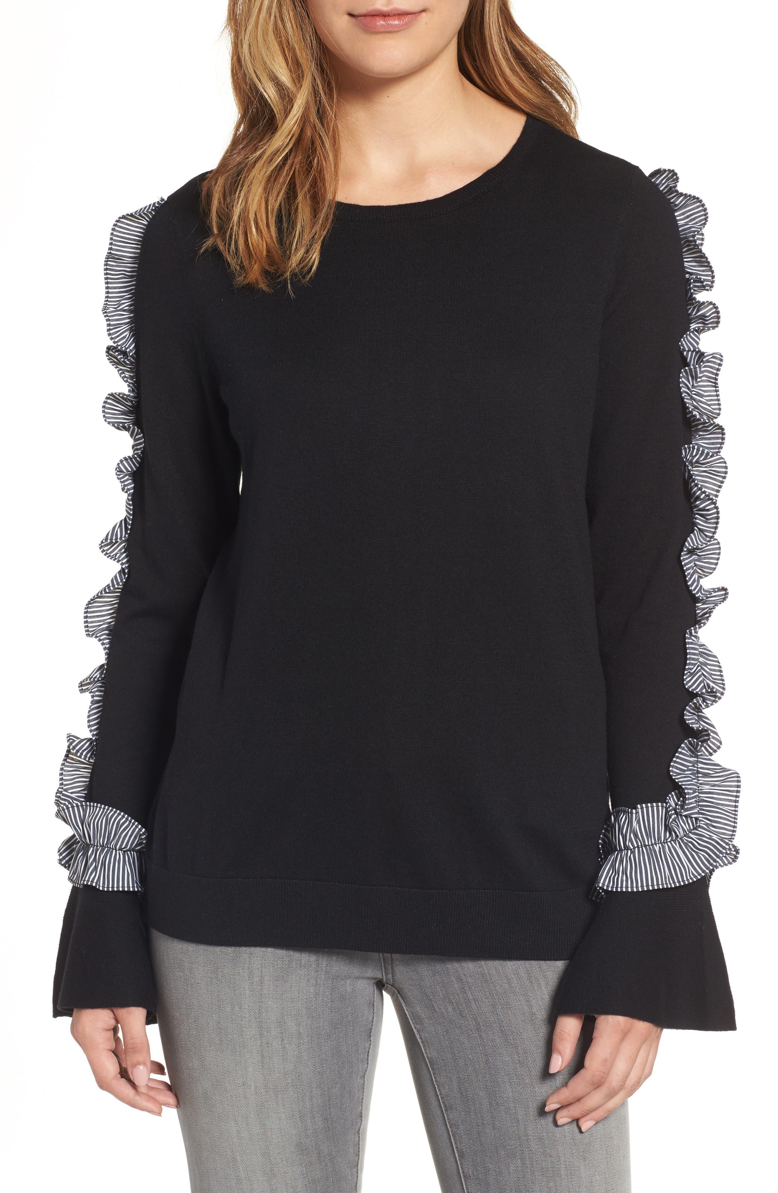 Halogen® Ruffle Sweater