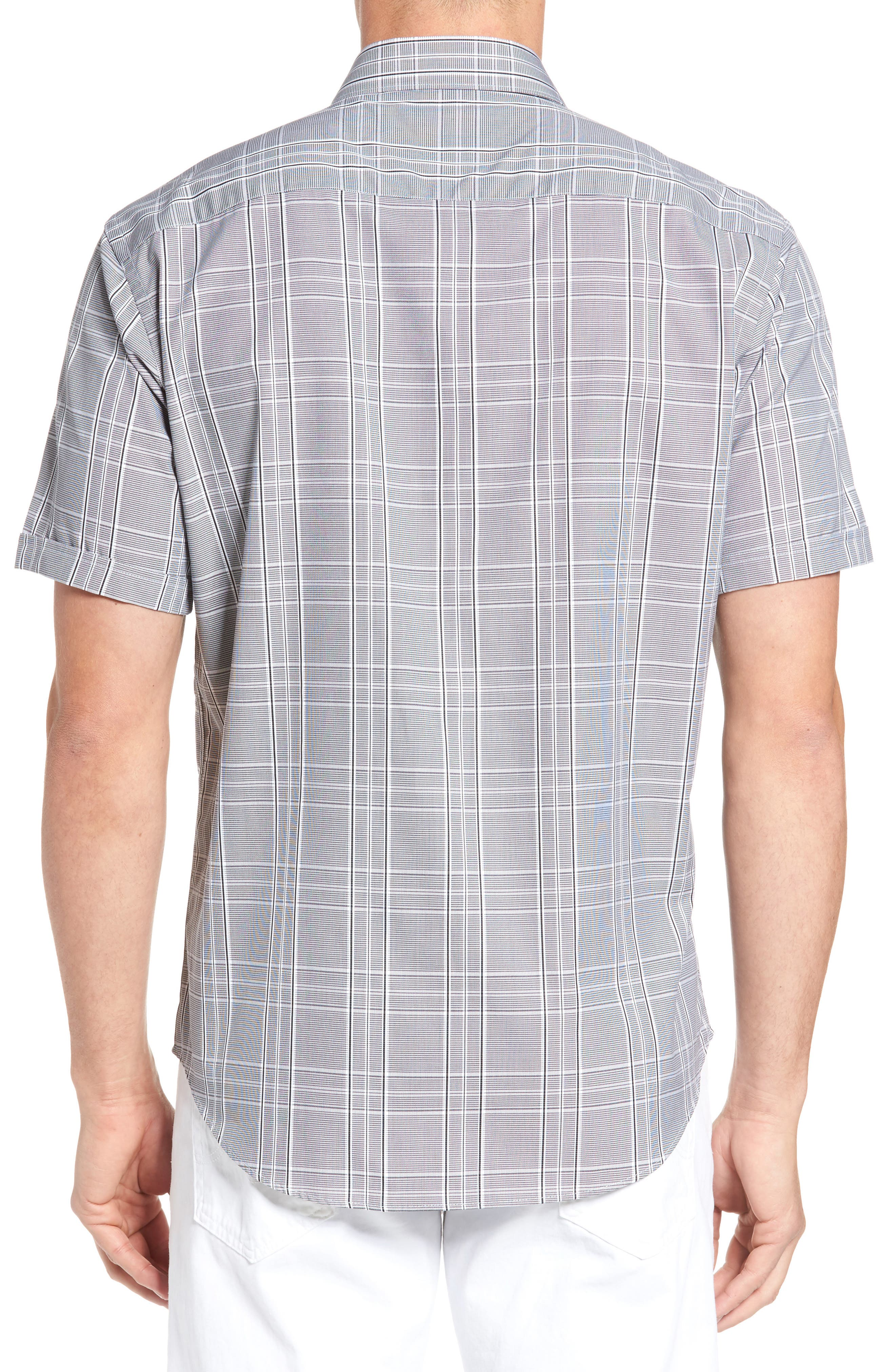 Shaped Fit Sport Shirt,                             Alternate thumbnail 2, color,                             Black