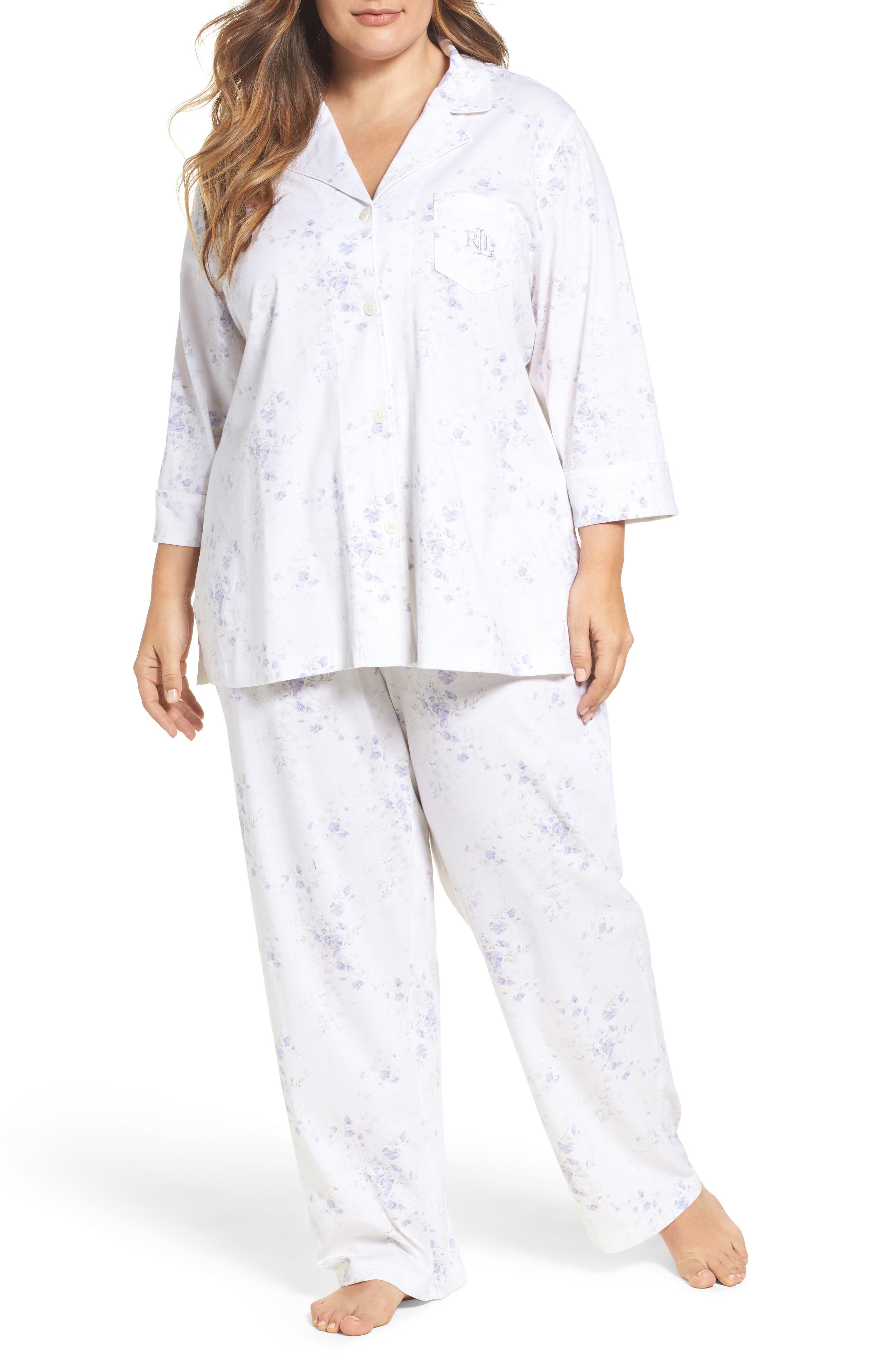 Main Image - Lauren Ralph Lauren Pajamas (Plus Size)