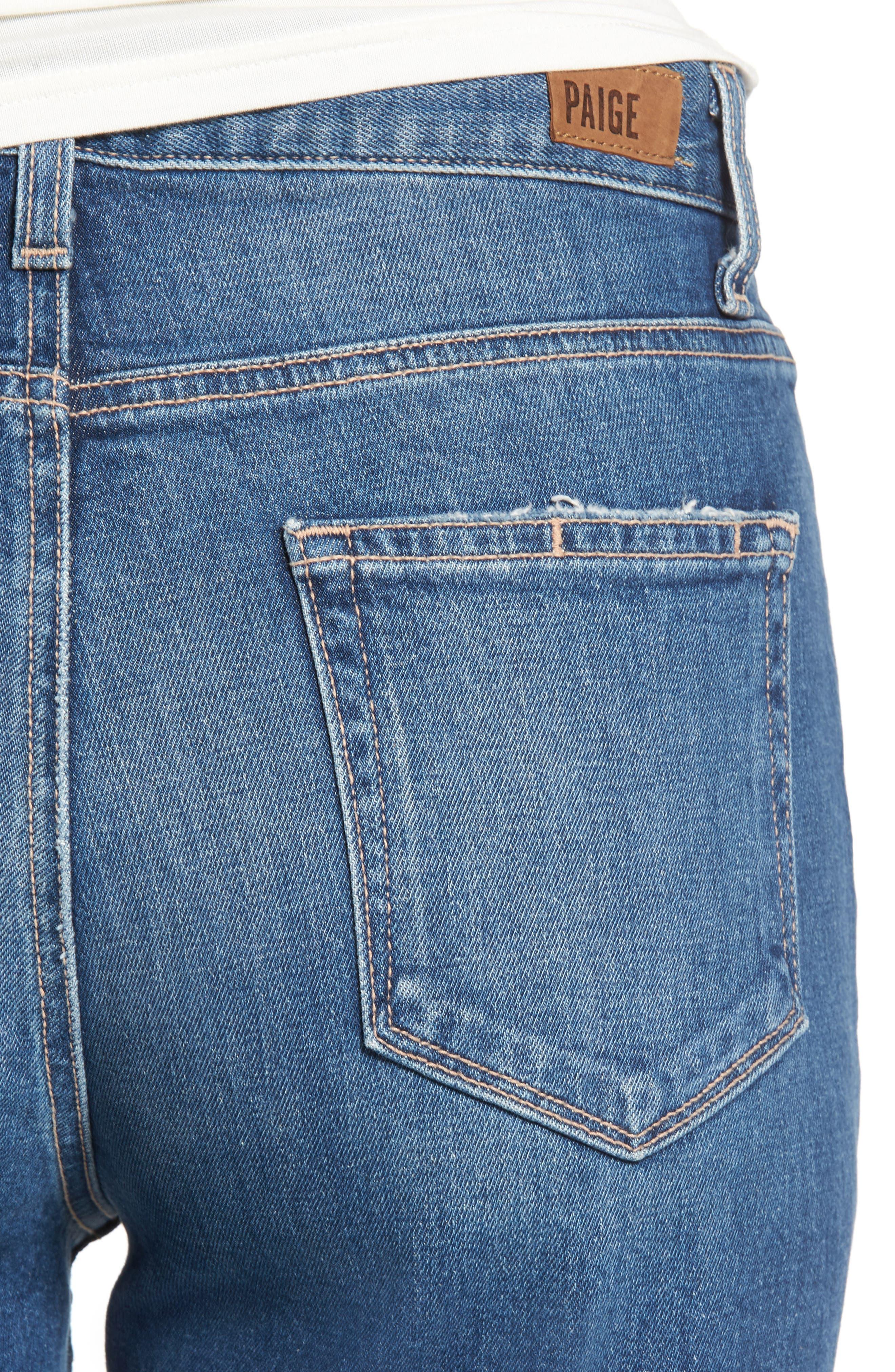 Alternate Image 5  - PAIGE Vintage - Sarah High Waist Crop Straight Leg Jeans (Kellan Destructed)