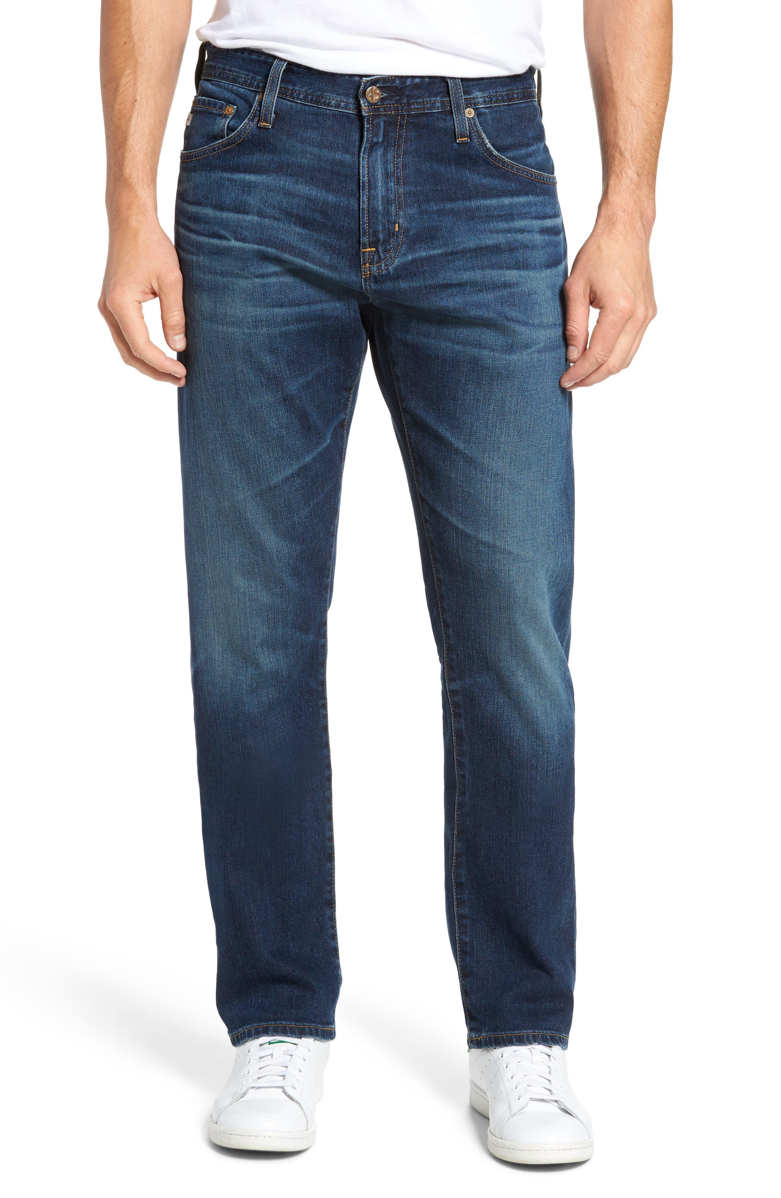 Main Image - AG Ives Straight Leg Jeans (9 Years Hammer)