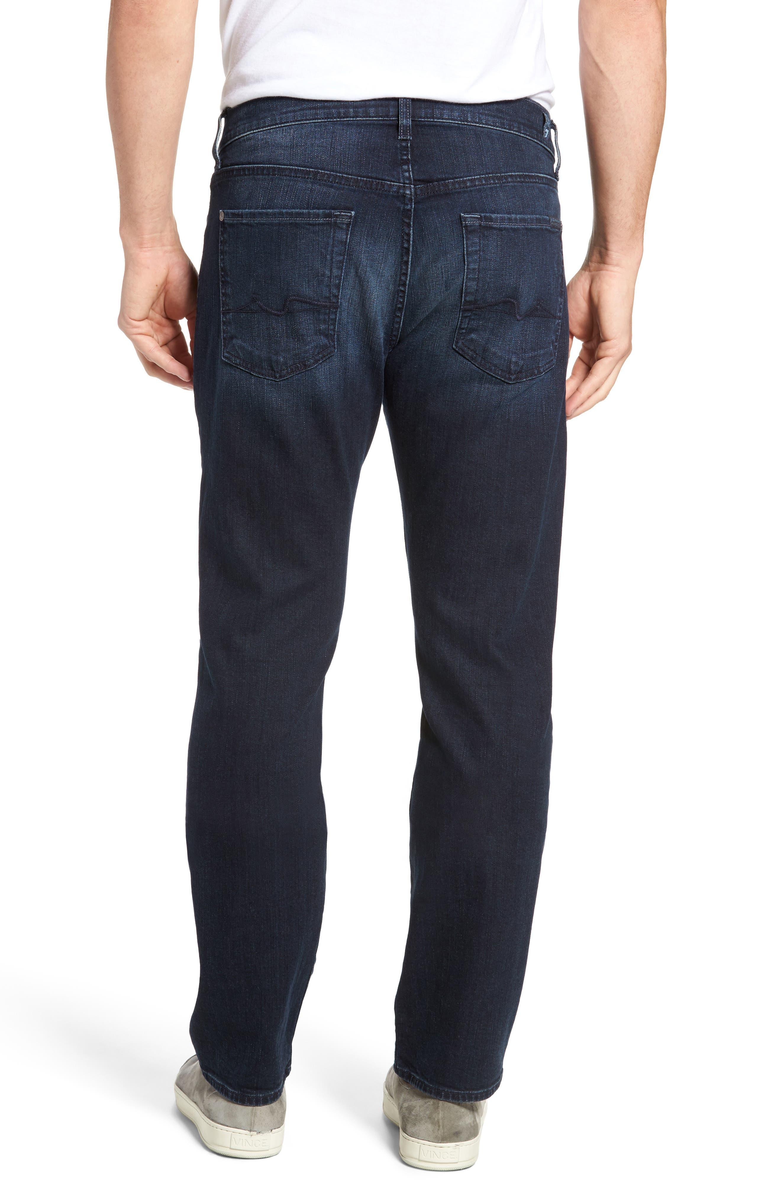 Alternate Image 2  - 7 For All Mankind® The Straight Slim Straight Leg Jeans (Dark Current)