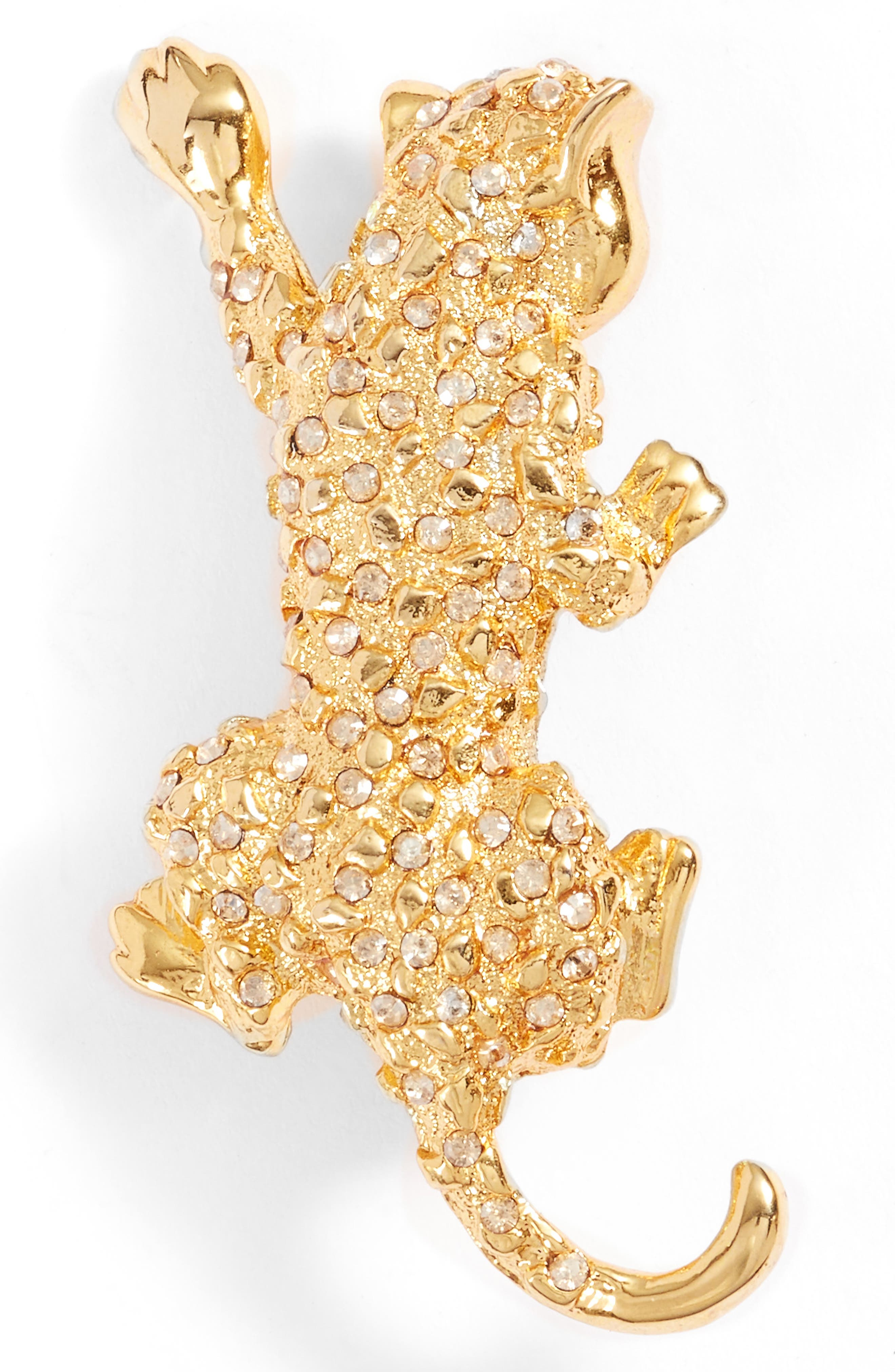 Leopard Pin,                         Main,                         color, Crystal Gold Shadow