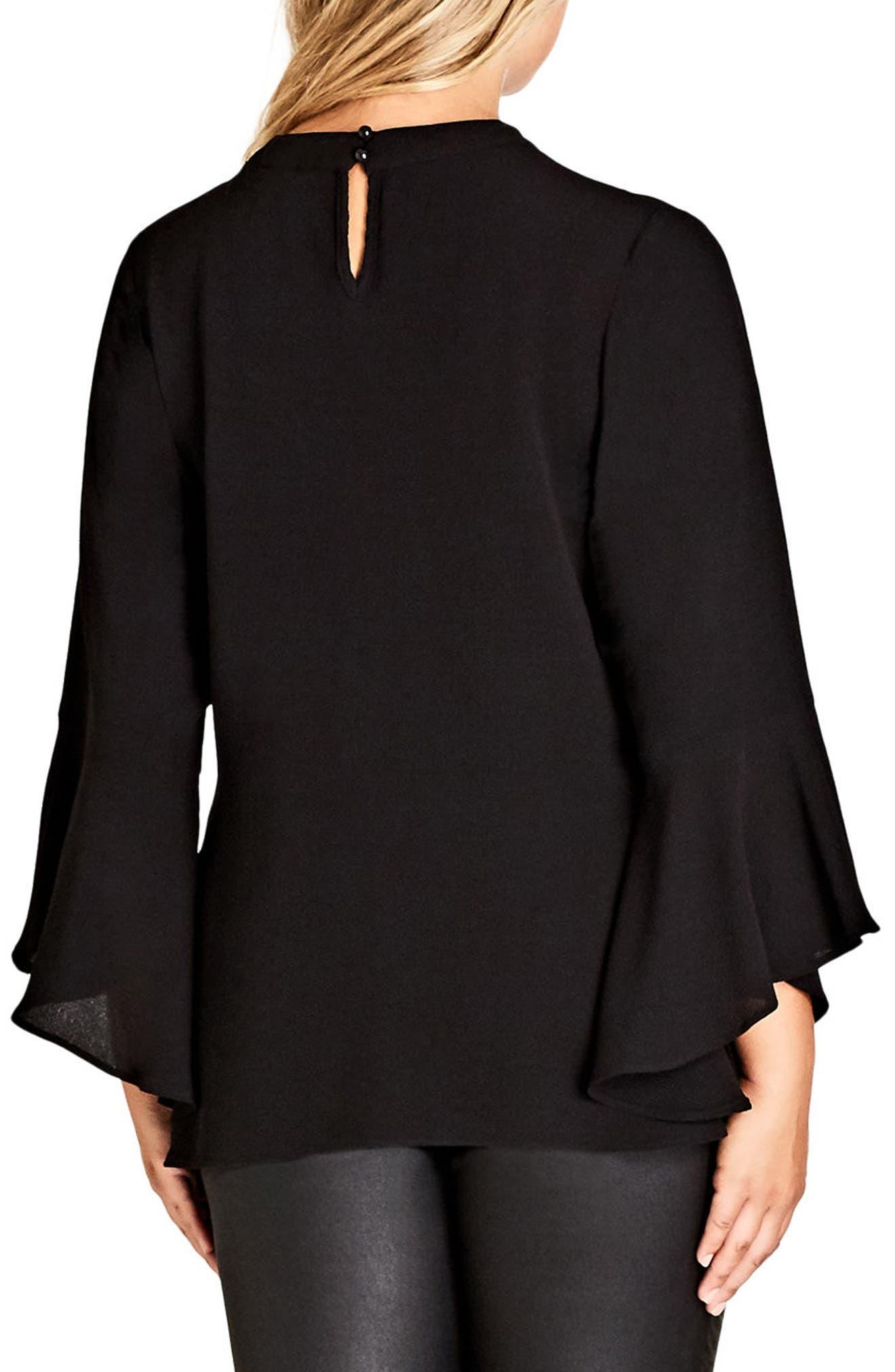 Shadow Choker Shirt,                             Alternate thumbnail 2, color,                             Black