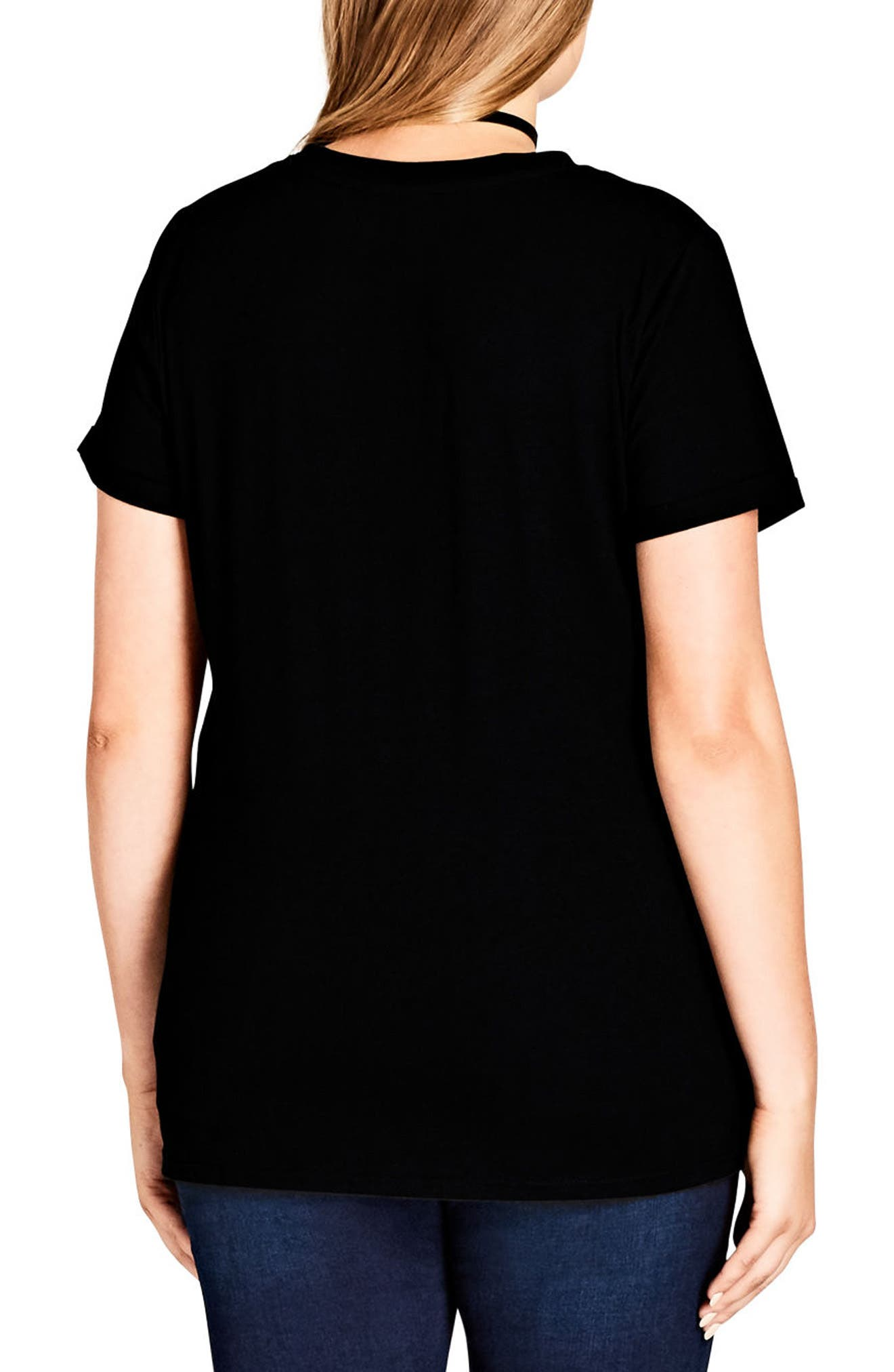 Dreaming Graphic Tee,                             Alternate thumbnail 2, color,                             Black