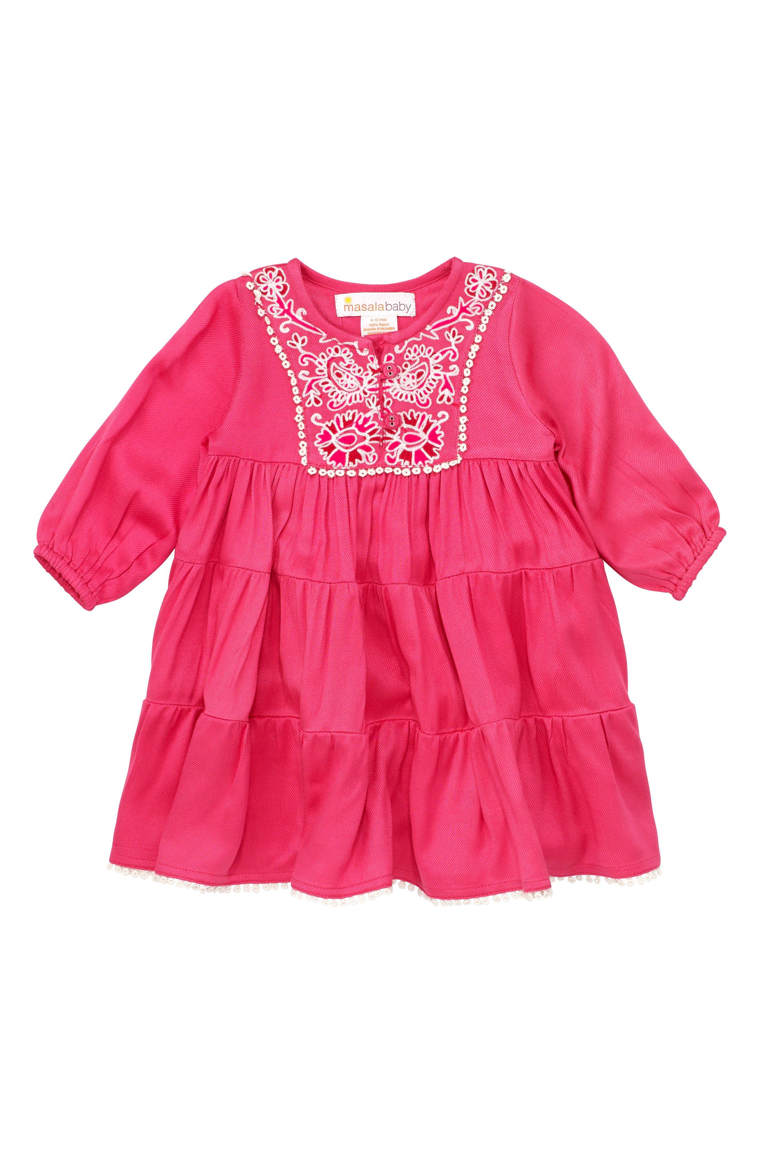 Alternate Image 1 Selected - Masalababy Gypsy Rose Dress (Baby Girls)