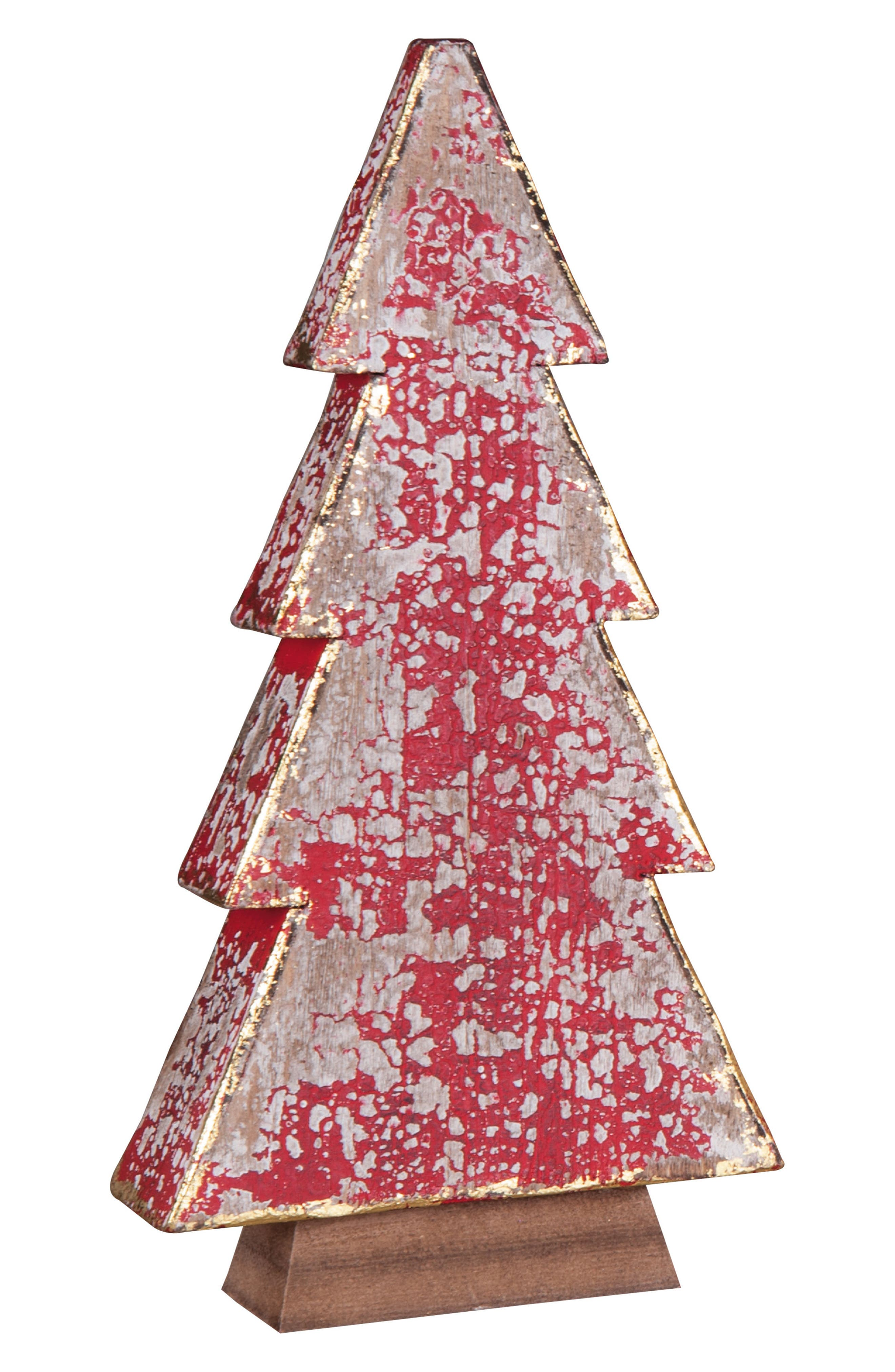 Wood Christmas Tree,                         Main,                         color, Red