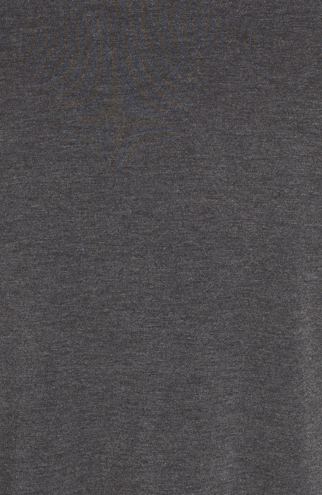 Long Sleeve Raglan Swing Tee,                             Alternate thumbnail 5, color,                             Grey Dark Charcoal Heather