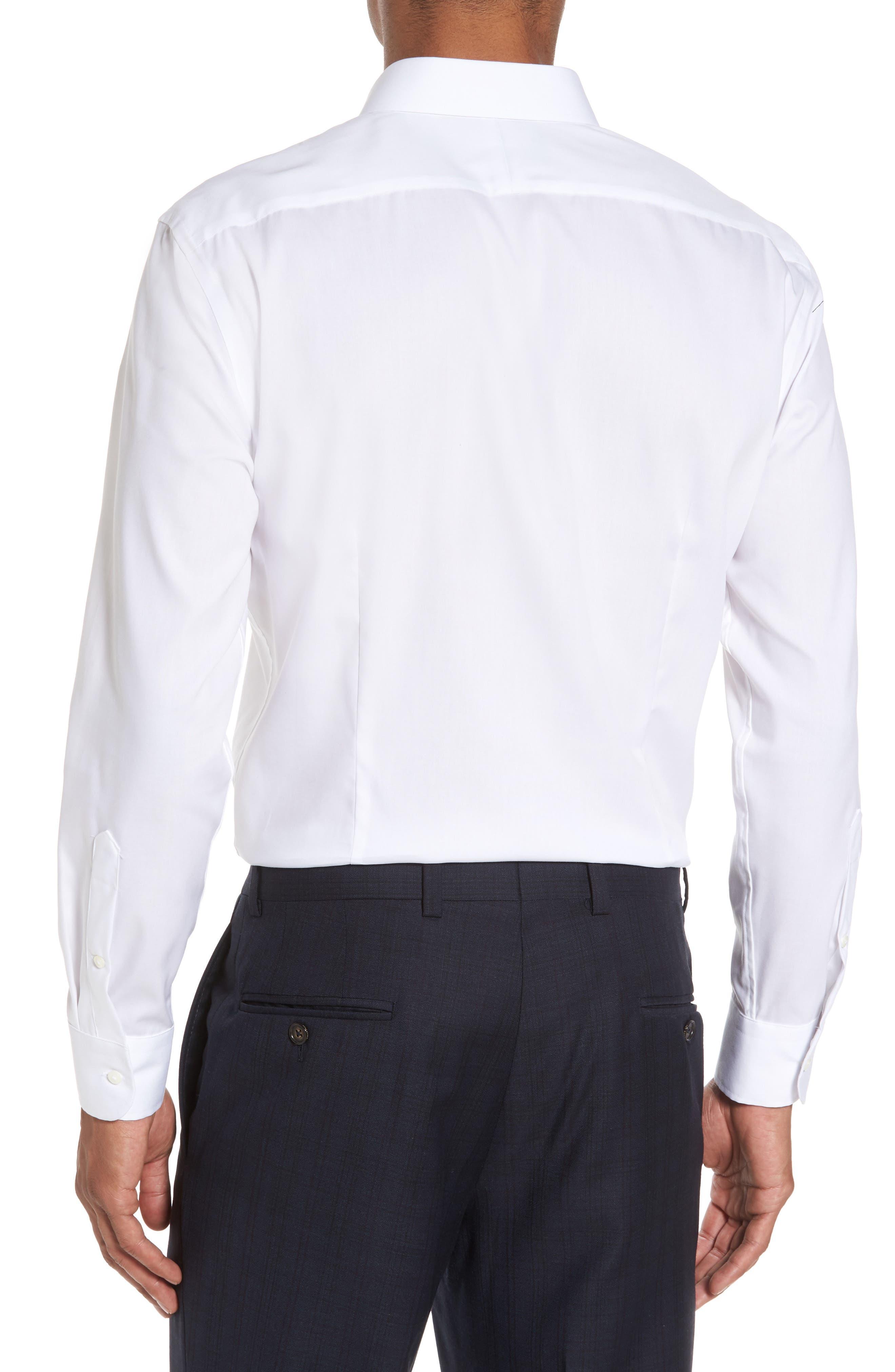 Alternate Image 3  - Nordstrom Men's Shop Extra Trim Fit Non-Iron Solid Dress Shirt