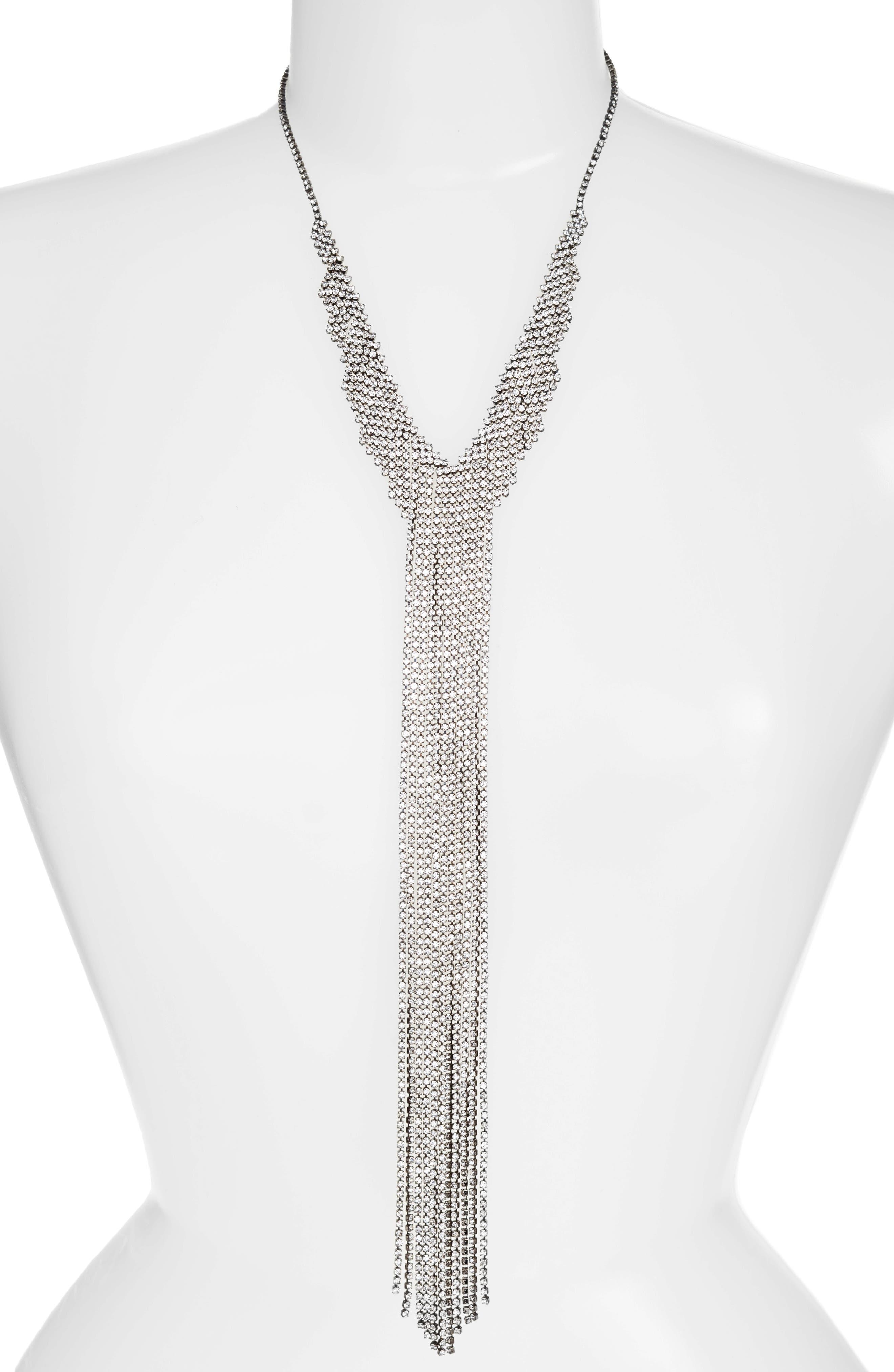 Alternate Image 2  - CRISTABELLE Fringe Frontal Necklace