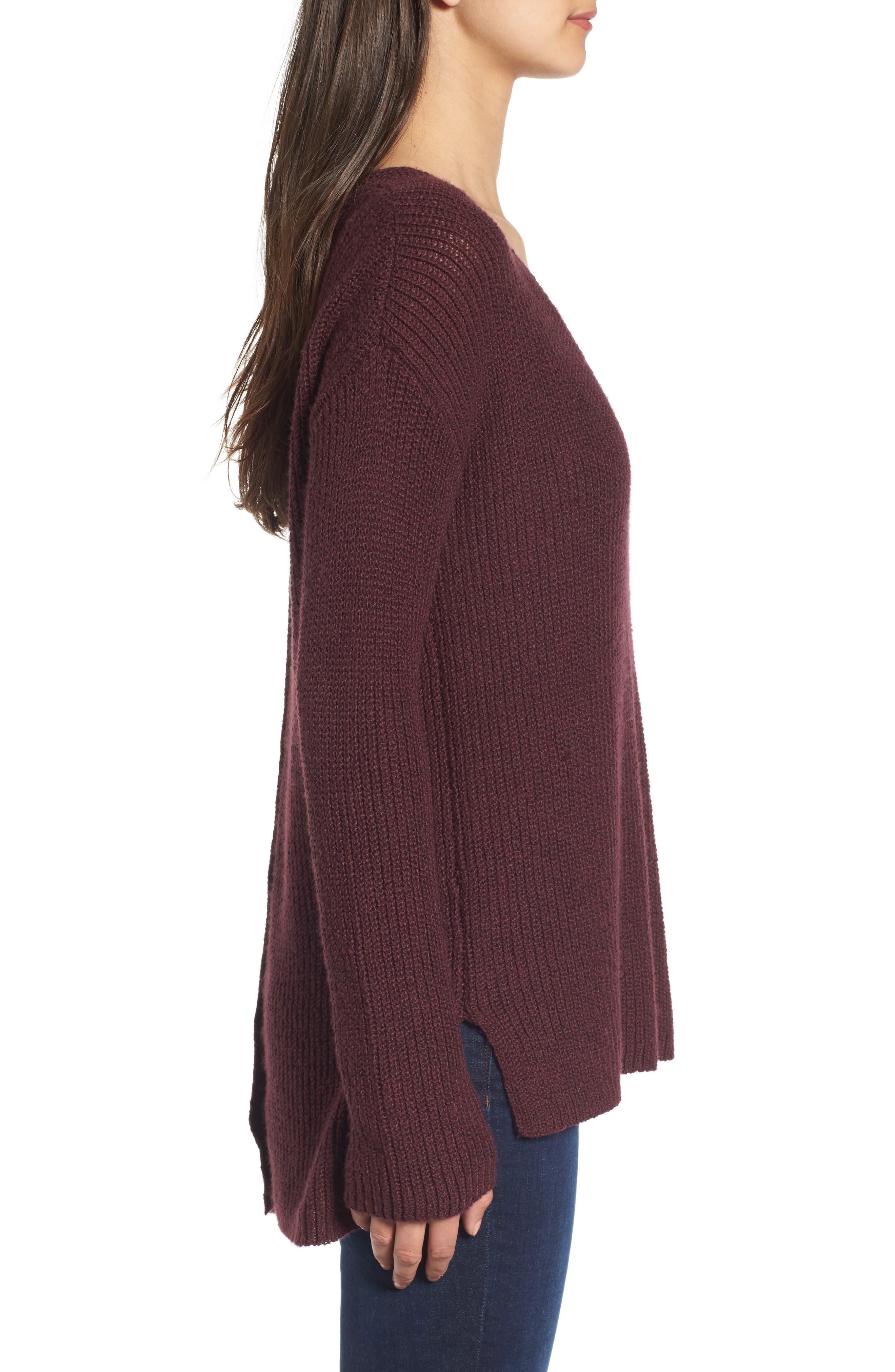 Alternate Image 3  - Hinge Button Back V-Neck Sweater