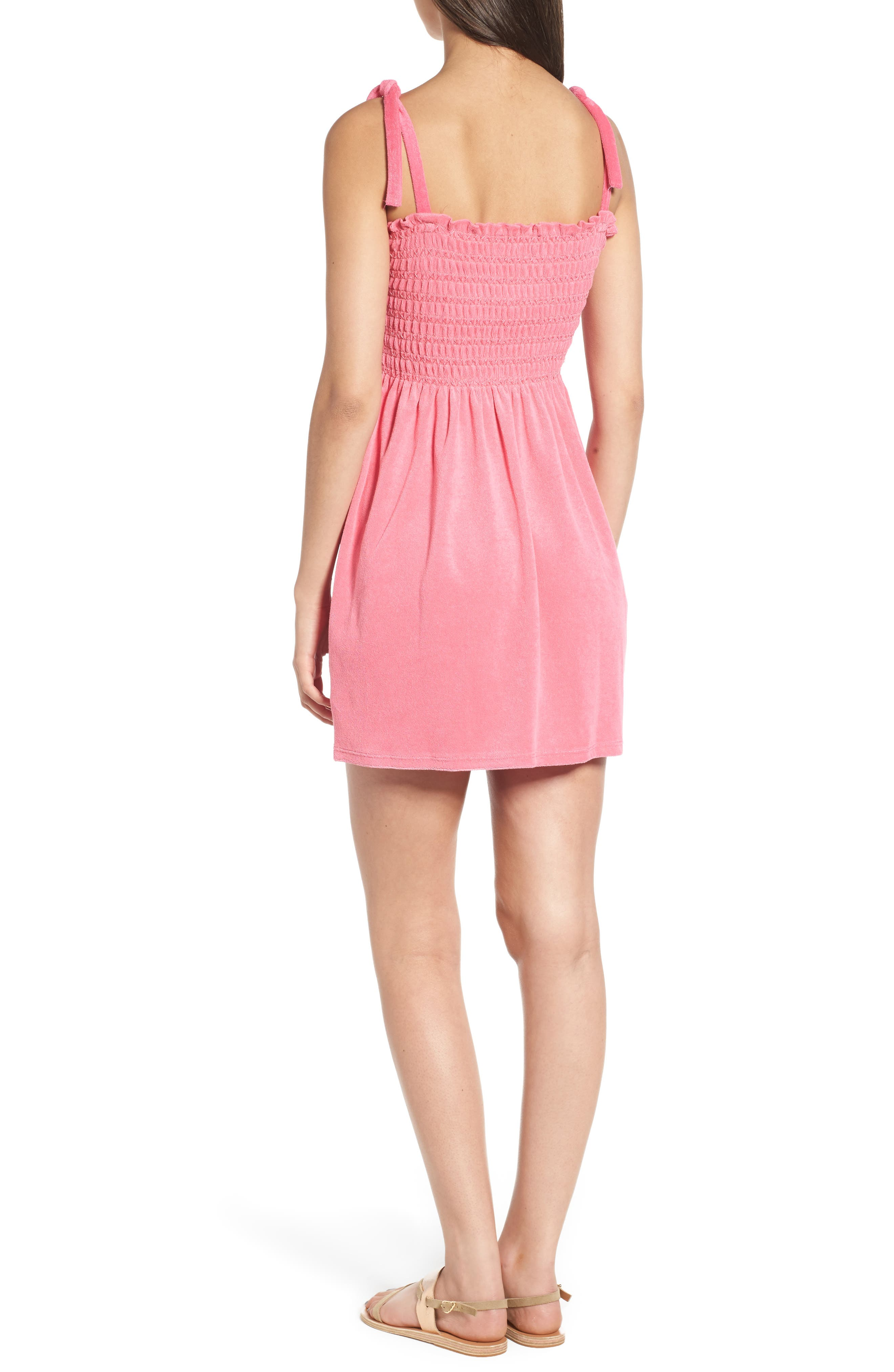 Alternate Image 2  - Juicy Couture Venice Beach Microterry Smocked Dress