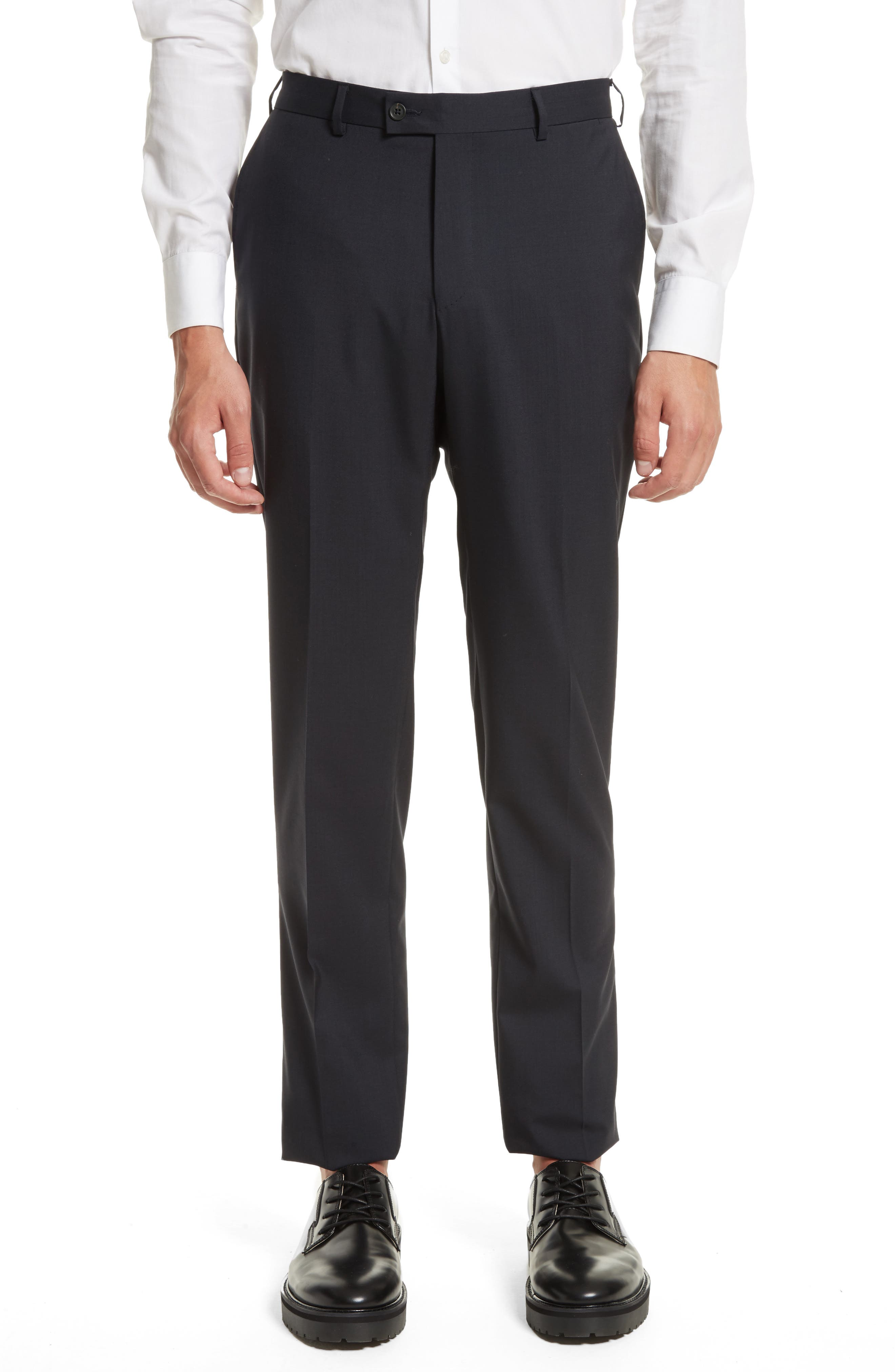 Tropical Wool Suit Trousers,                         Main,                         color, Navy
