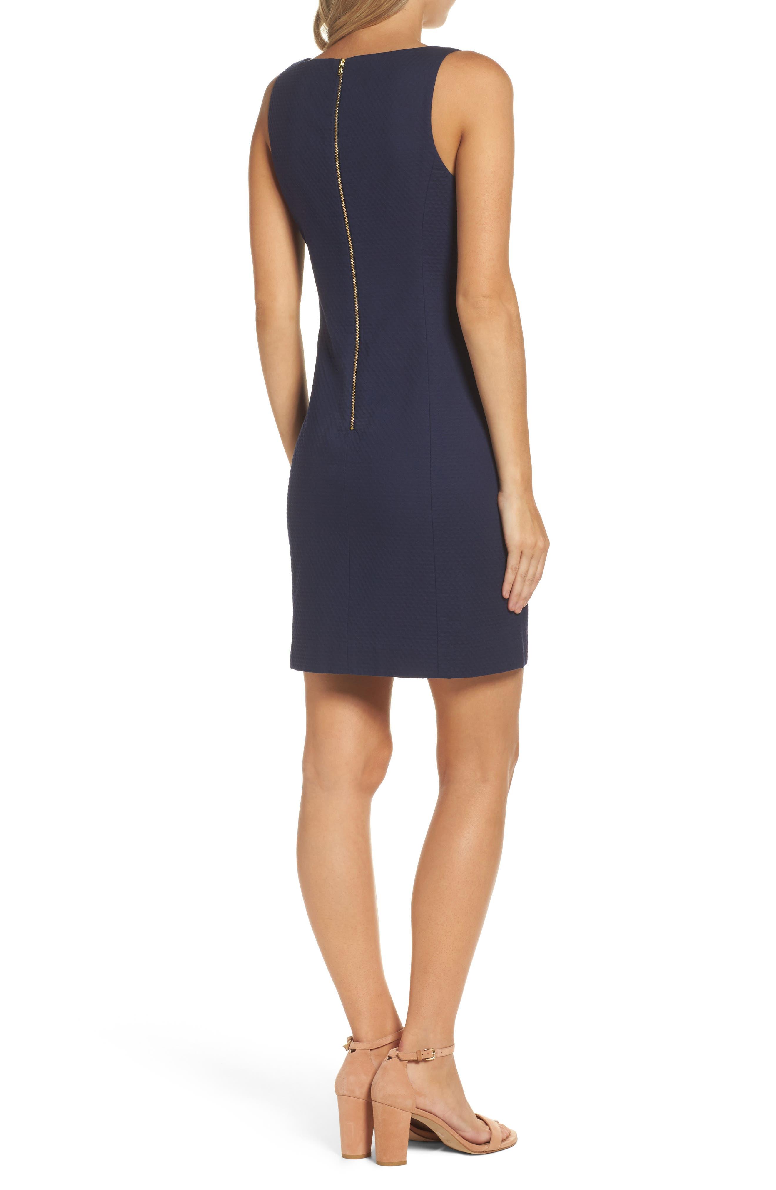 Gabby Sheath Dress,                             Alternate thumbnail 2, color,                             True Navy