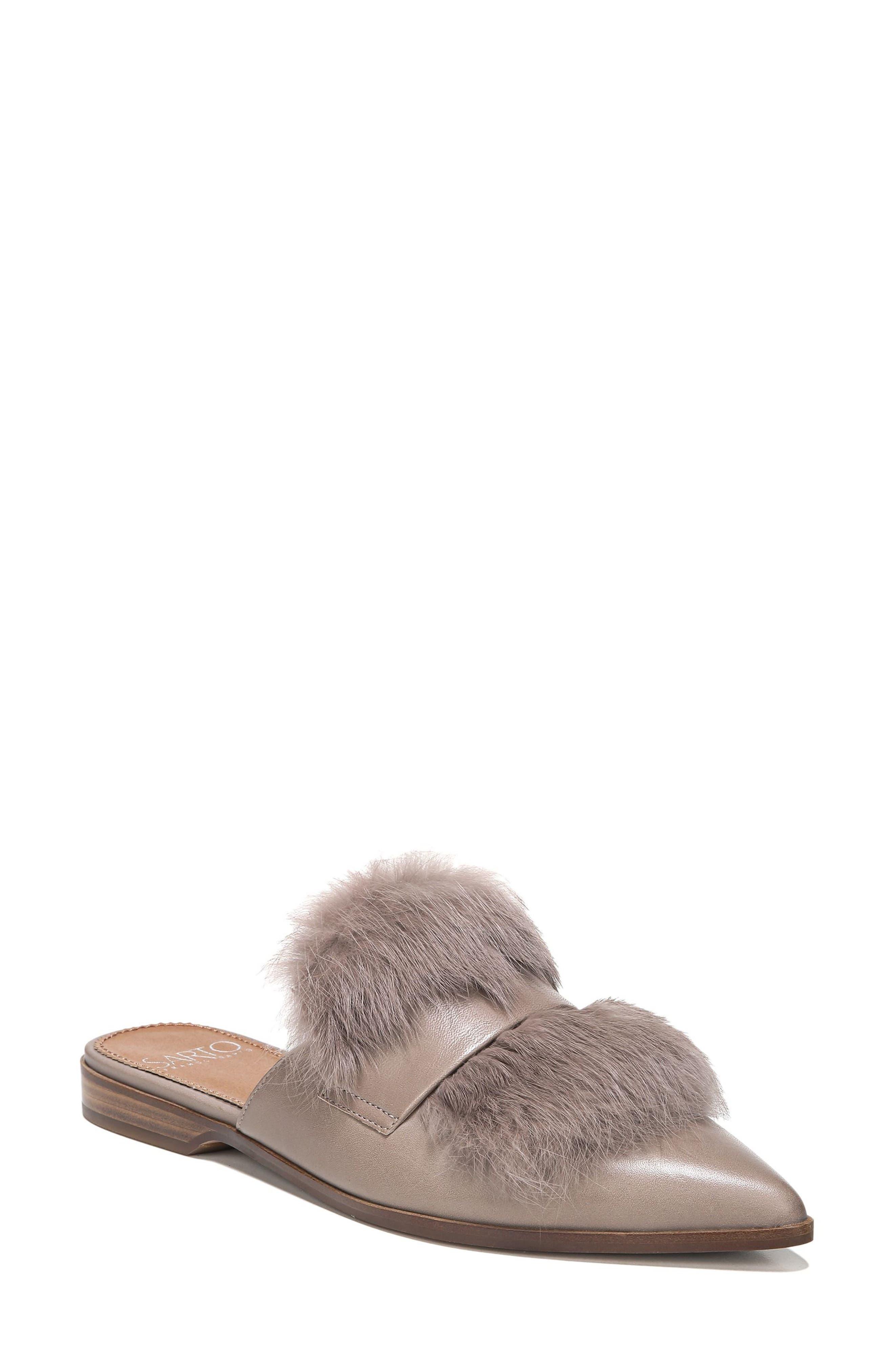 SARTO by Franco Sarto Palmer II Genuine Rabbit Fur Slide (Women)