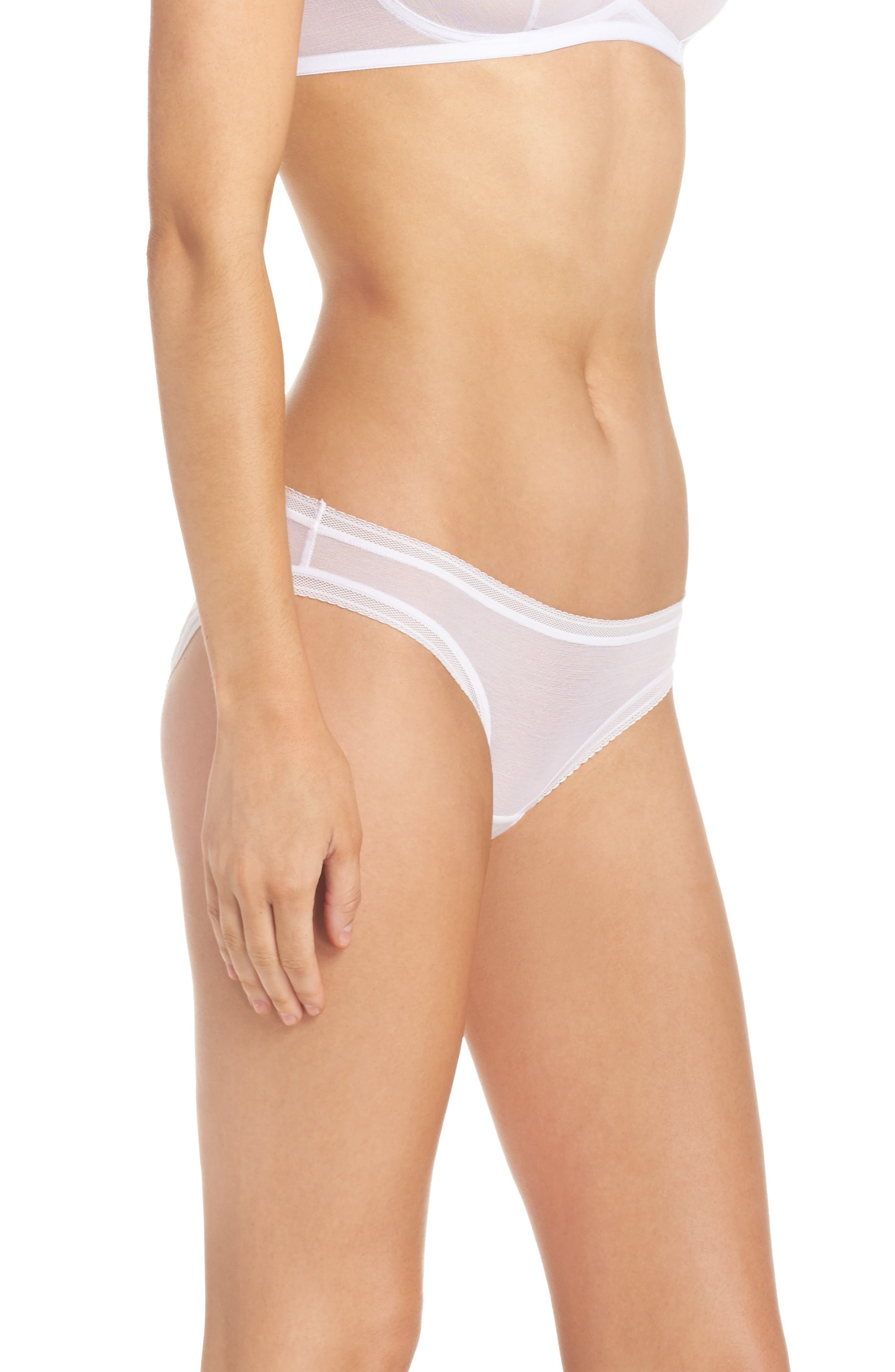Mesh Bikini,                             Alternate thumbnail 3, color,                             White