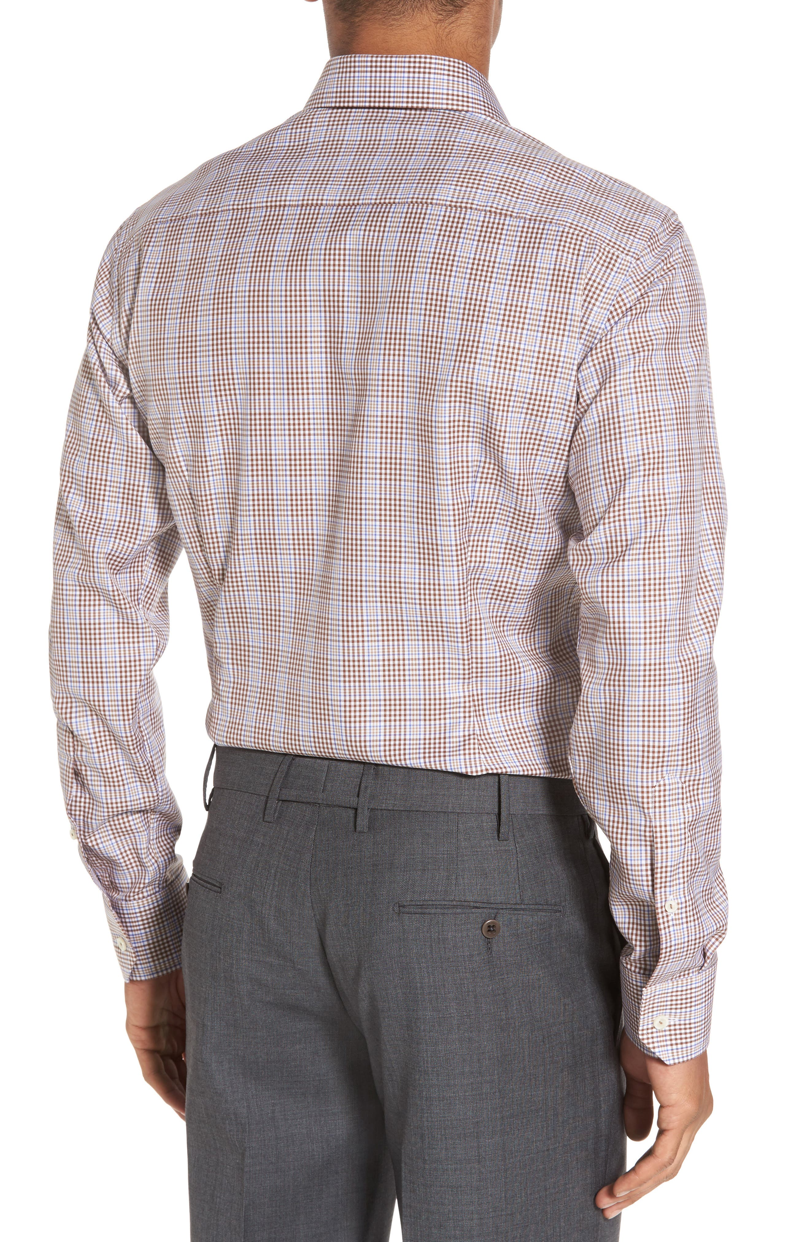 Alternate Image 3  - Eton Slim Fit Plaid Dress Shirt