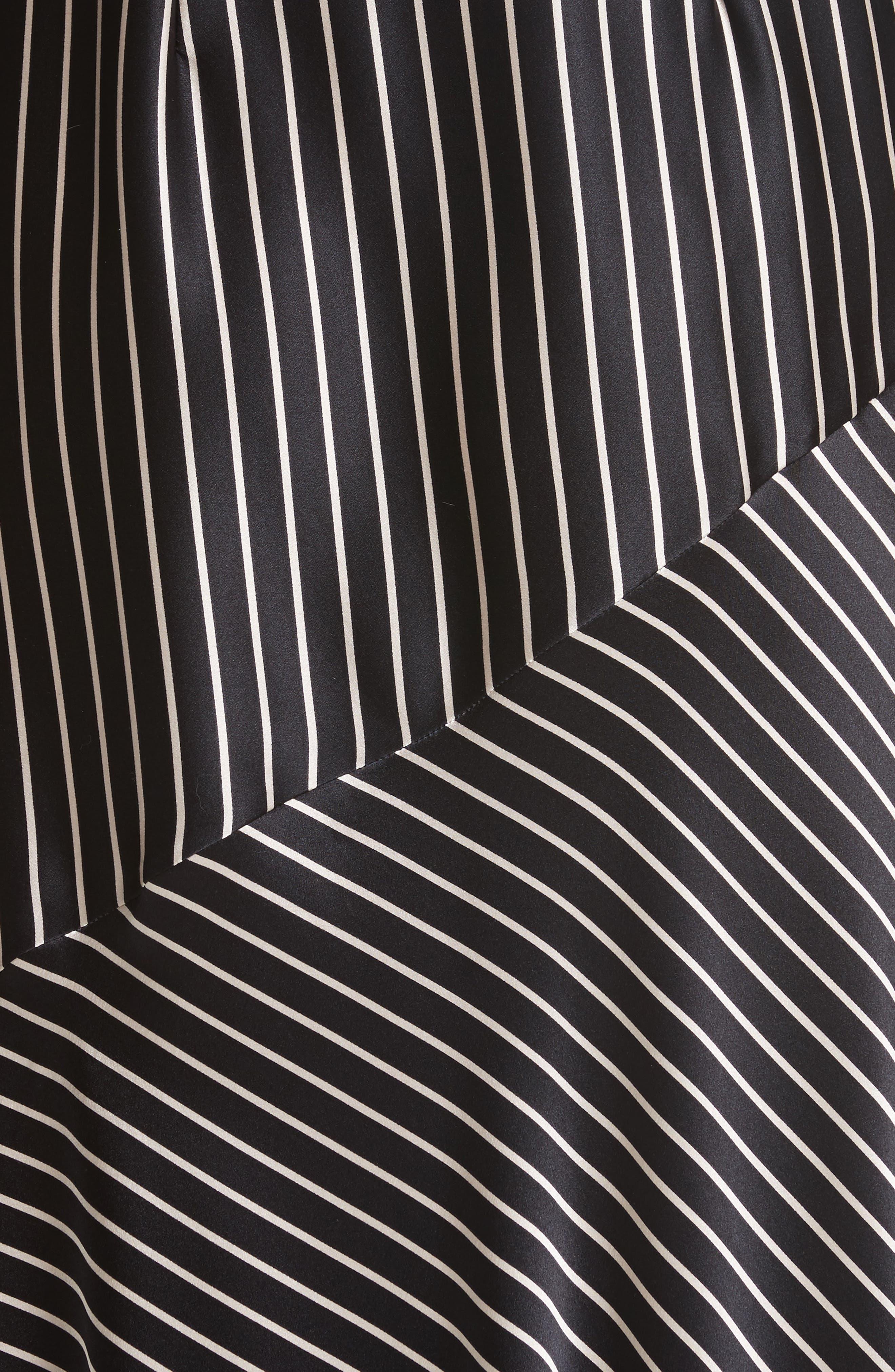 Alternate Image 5  - Yigal Azrouël Fringe Trim Asymmetrical Stripe Silk Dress