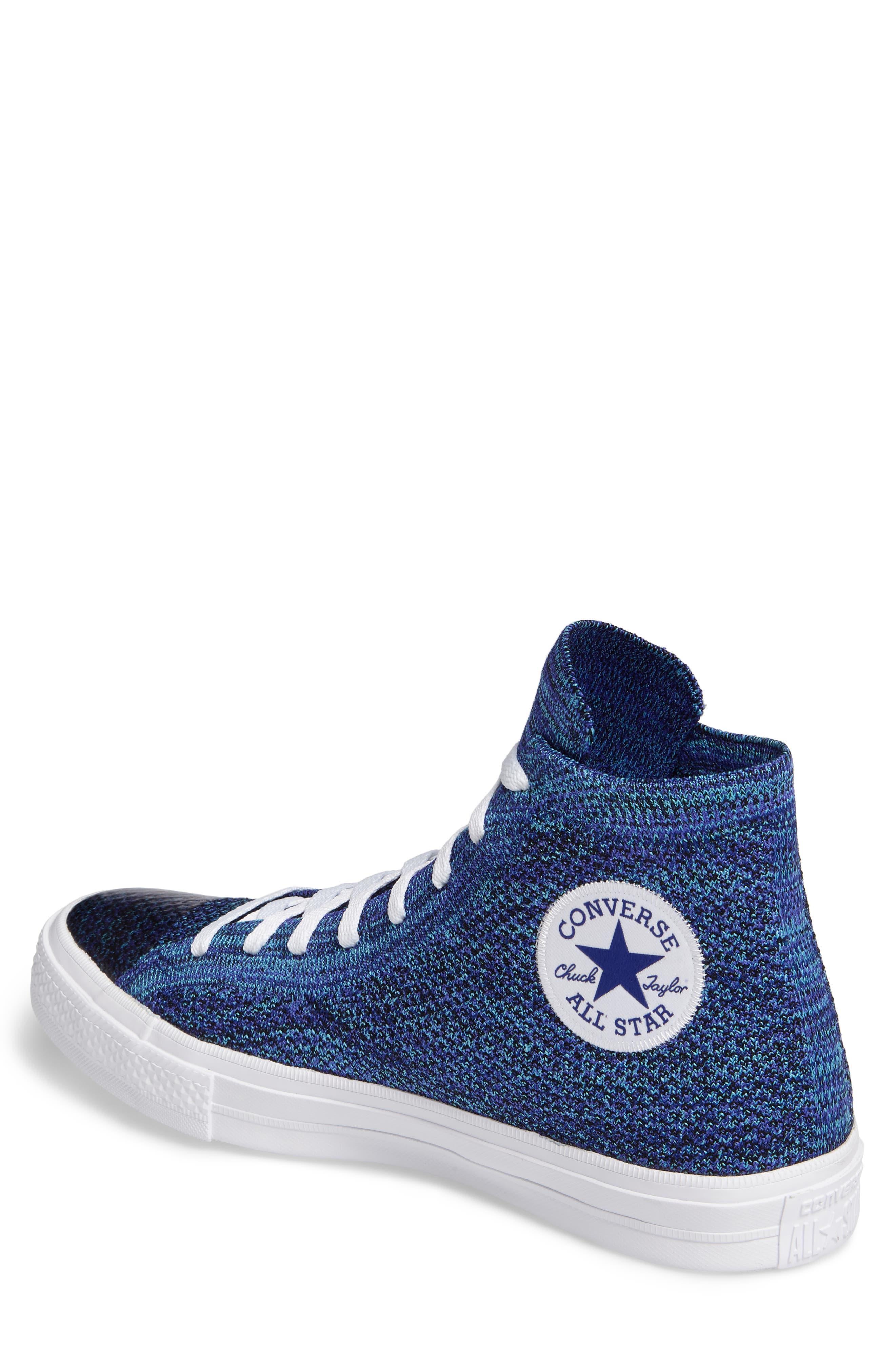 Chuck Taylor<sup>®</sup> All Star<sup>®</sup> Flyknit Hi Sneaker,                             Alternate thumbnail 2, color,                             Indigo