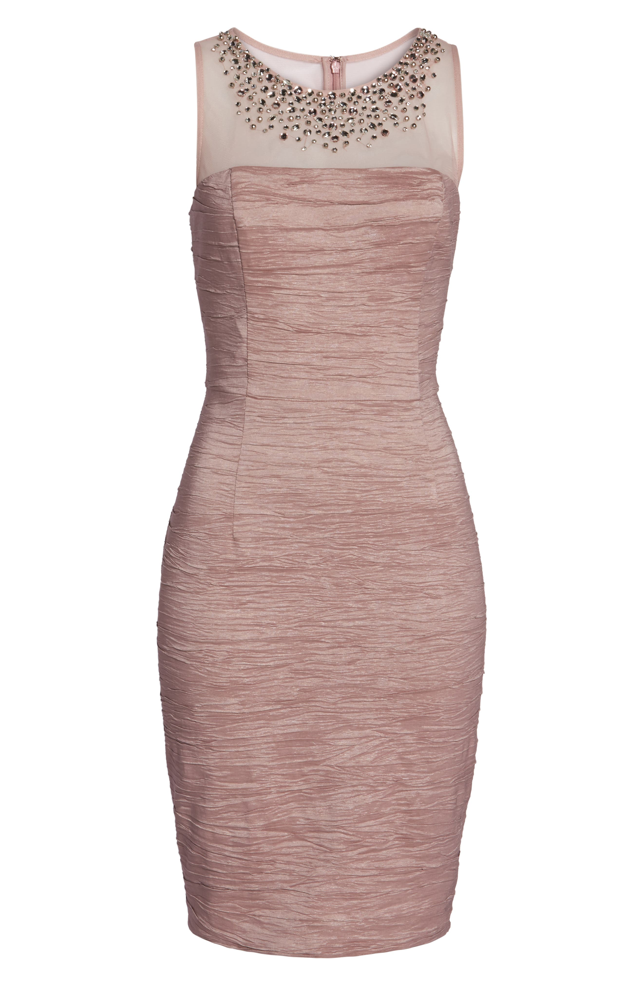 Alternate Image 6  - Eliza J Metallic Sheath Dress (Regular & Petite)