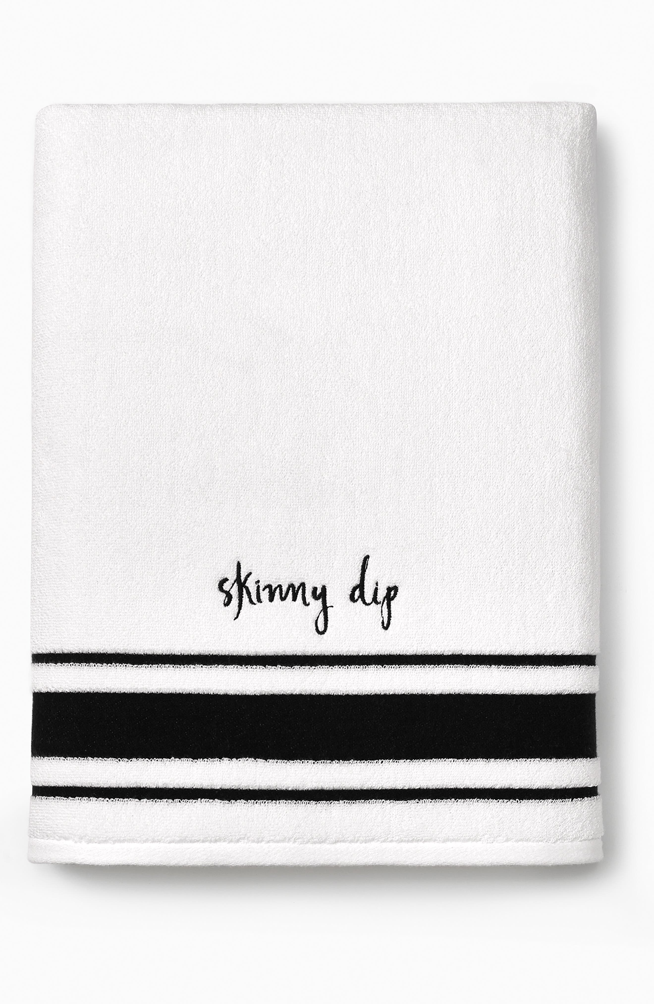 daisy place bath towel,                             Alternate thumbnail 2, color,                             White