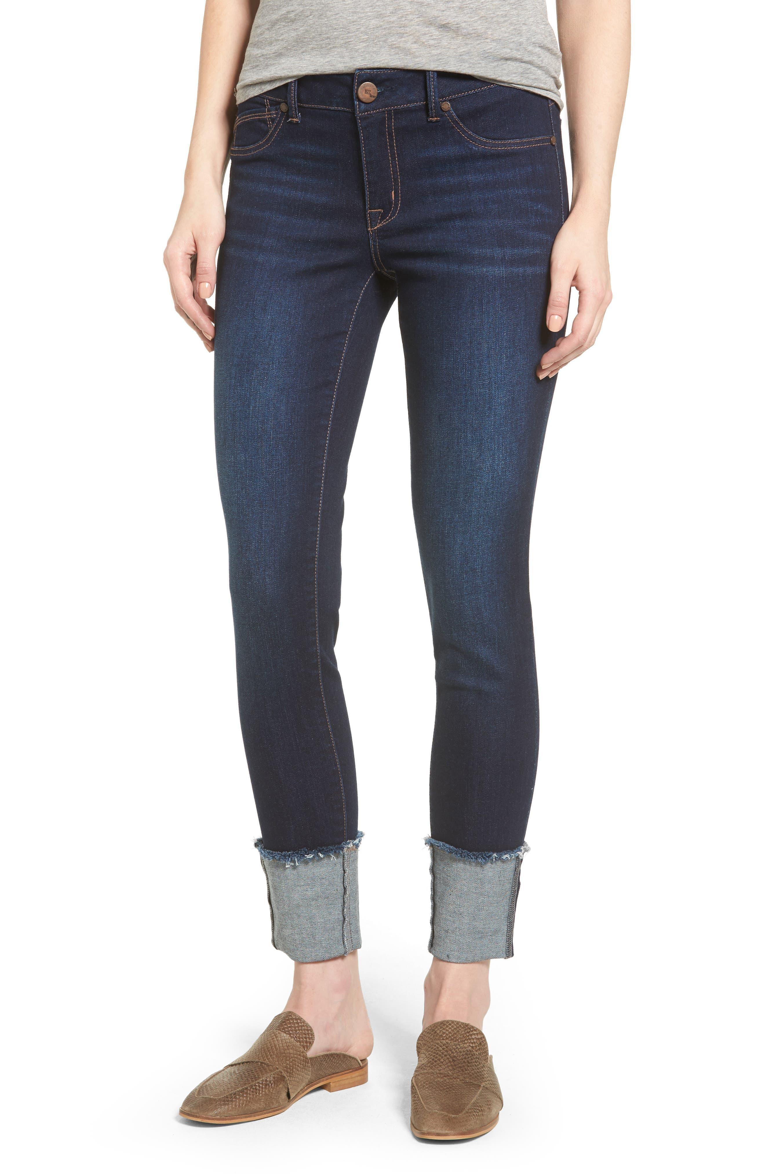1822 Denim Roll Cuff Ankle Skinny Jeans (Lennox)