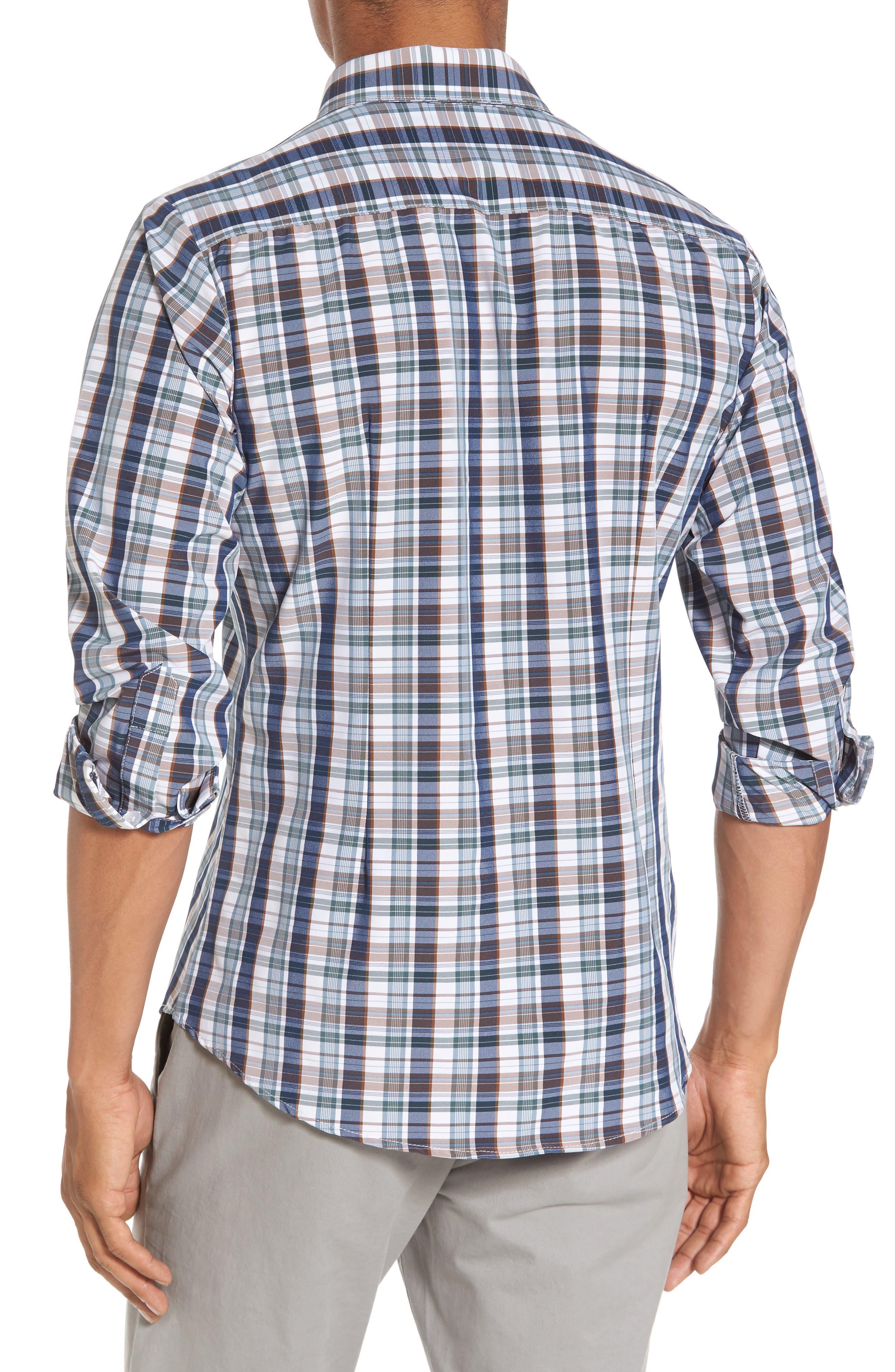 Alternate Image 2  - Mizzen+Main Russell Madras Plaid Performance Sport Shirt (Regular & Tall)